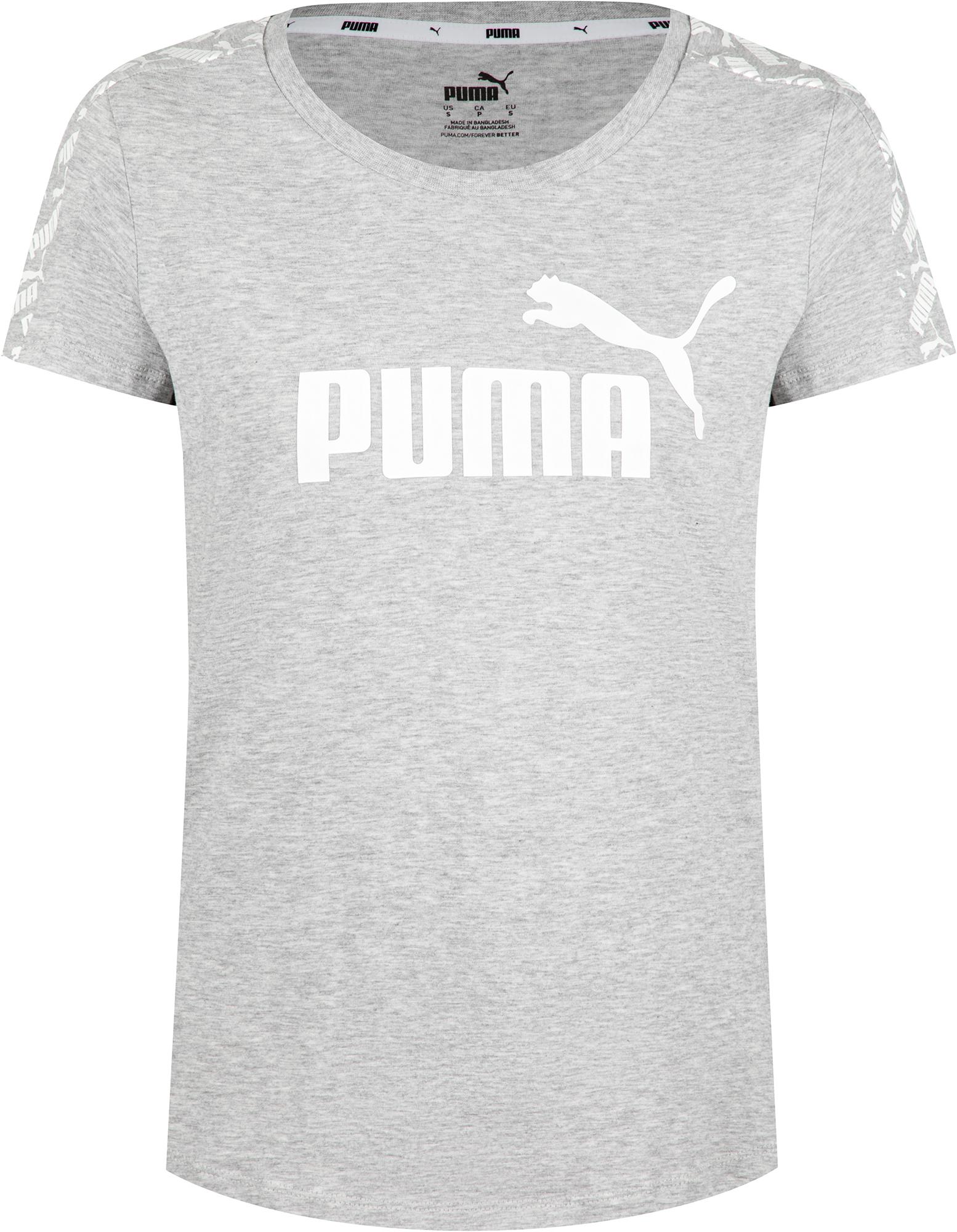 Puma Футболка женская Puma Amplified Tee, размер 42-44 футболка женская puma ess no 1 tee heather w цвет синий 83839920 размер s 42 44
