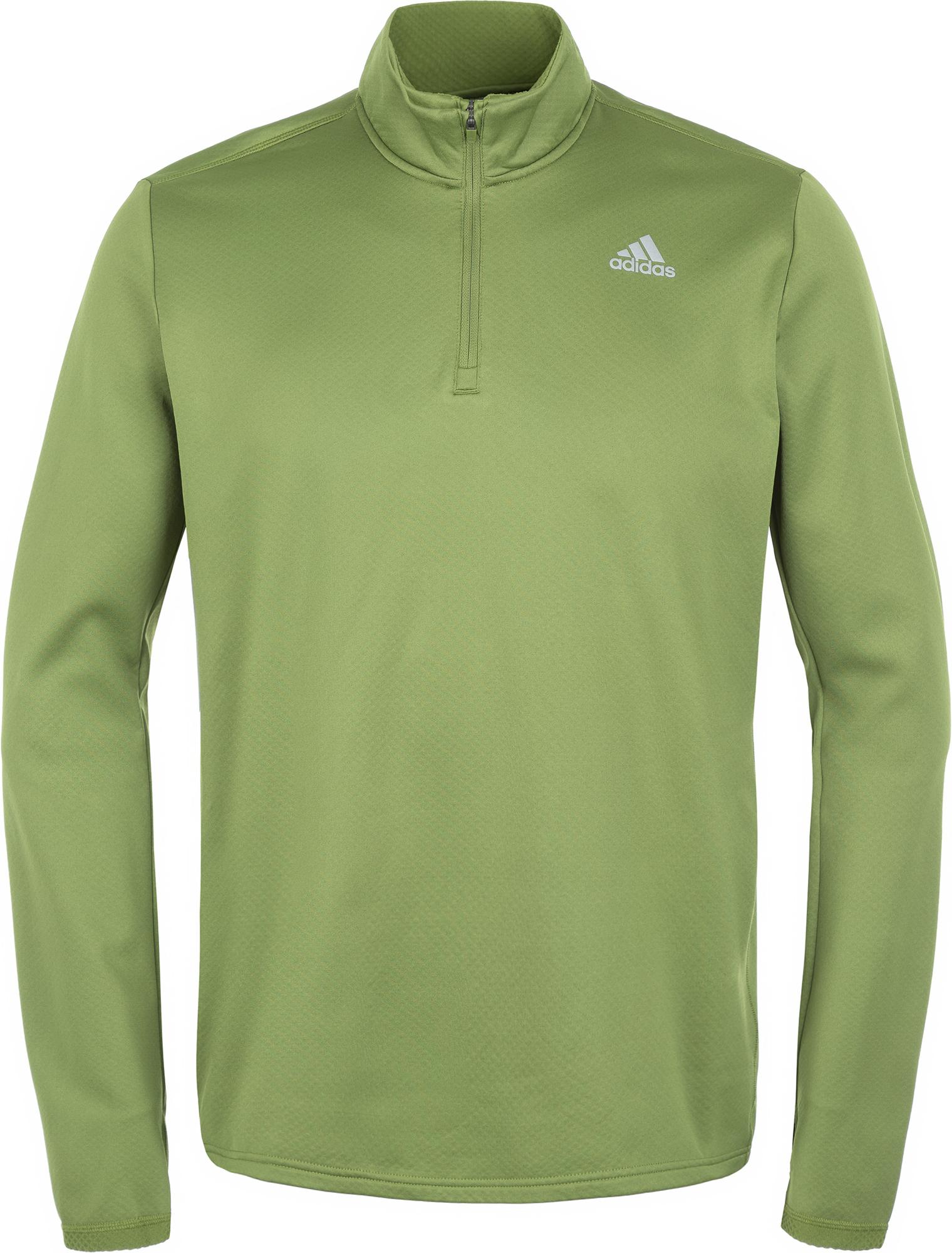 Adidas Лонгслив мужской Response Climawarm 1/4 Zip, размер 54
