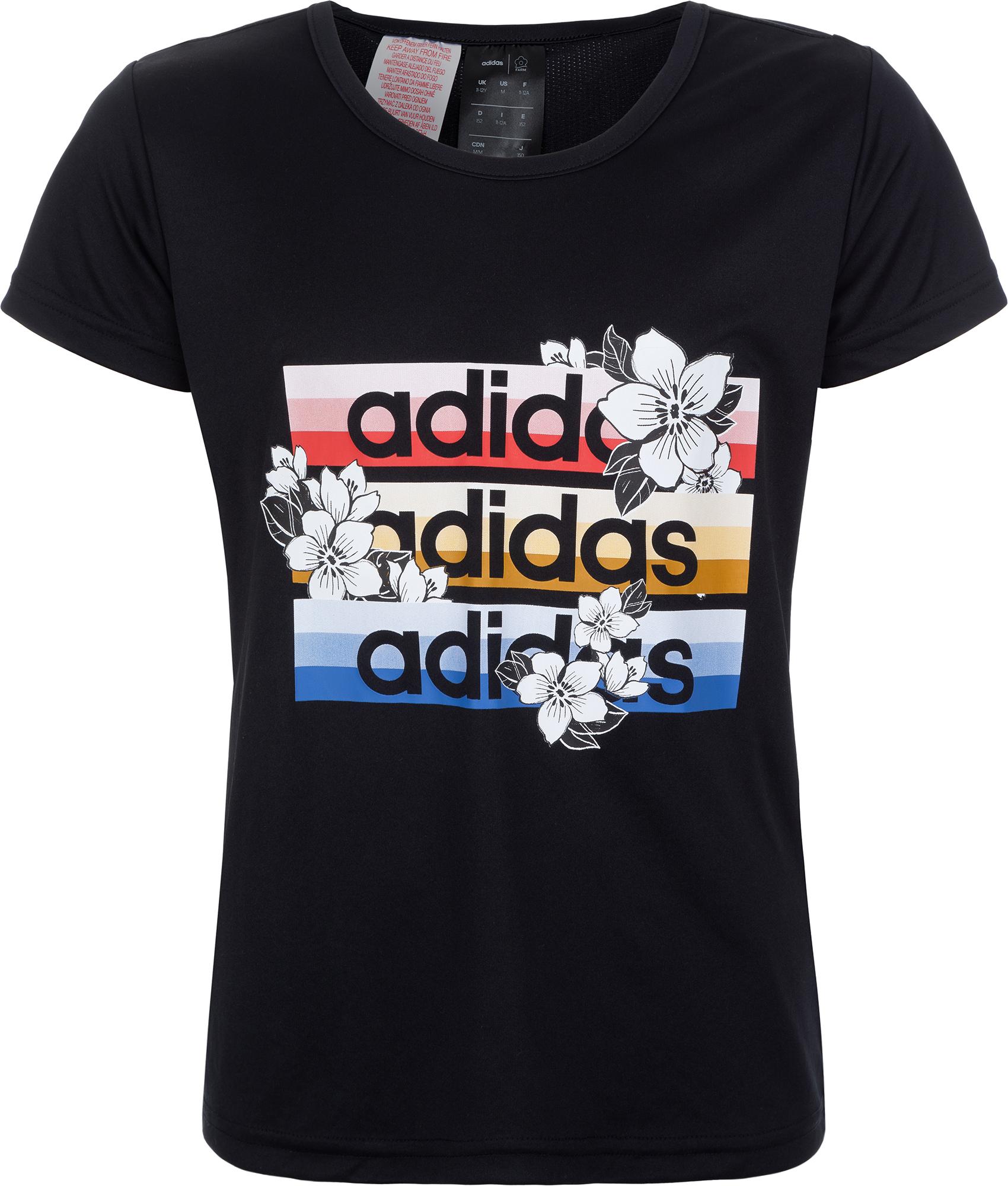 Adidas Футболка для девочек FARM Rio, размер 170