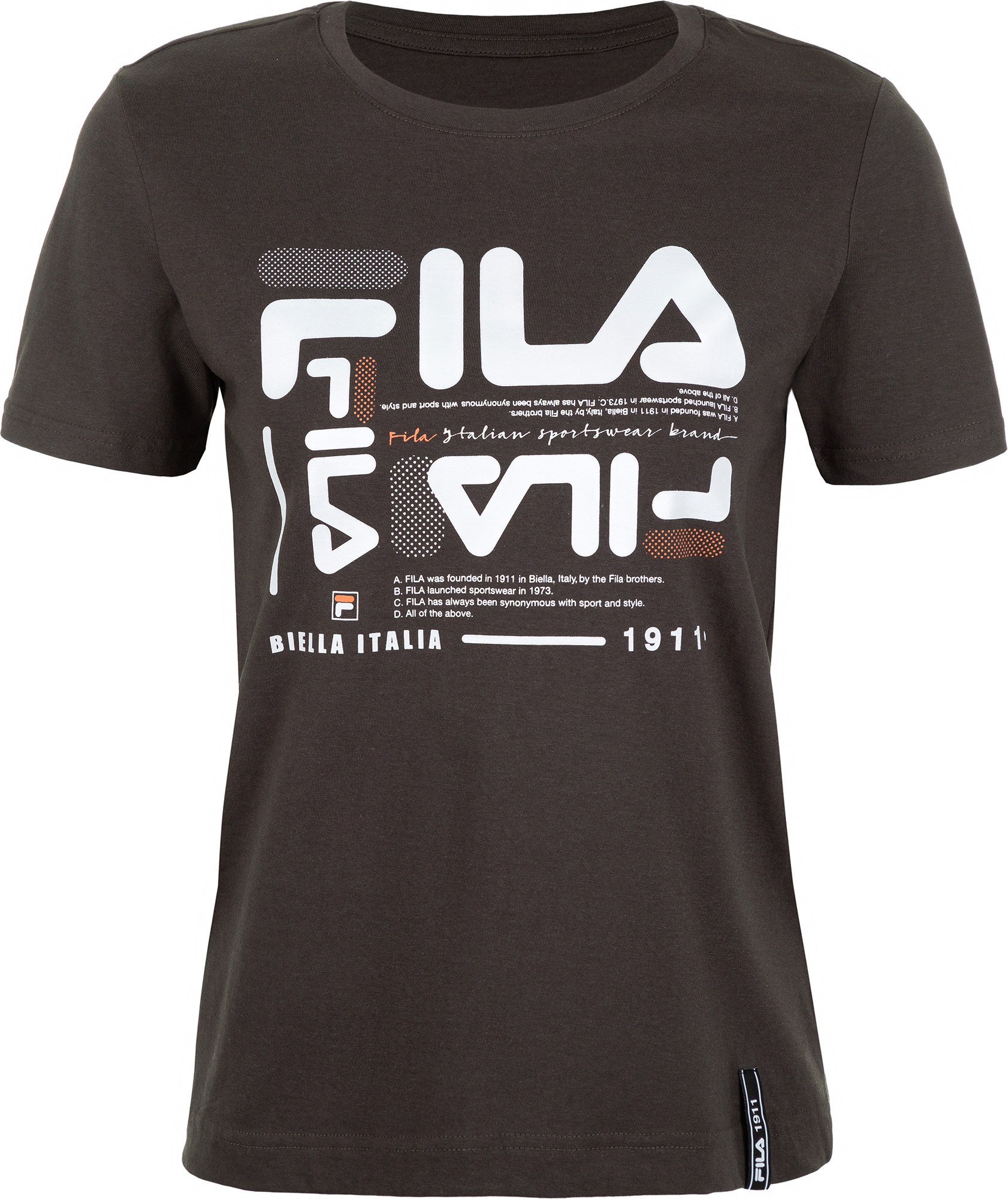 футболка женская oodji ultra цвет бежево розовый 14701005 7b 46147 4b00n размер s 44 Fila Футболка женская Fila, размер 44