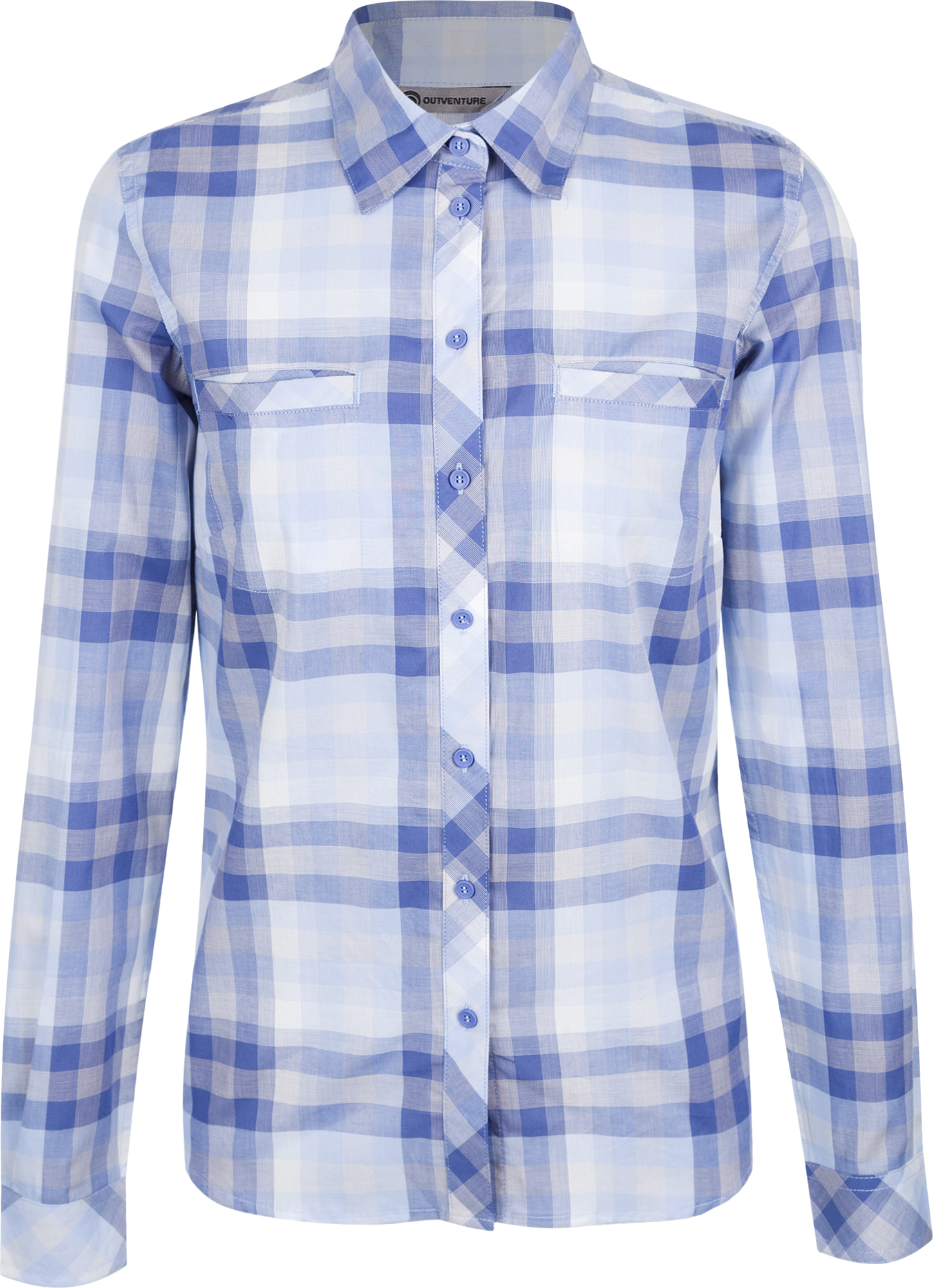 Outventure Рубашка с длинным рукавом женская Outventure, размер 54