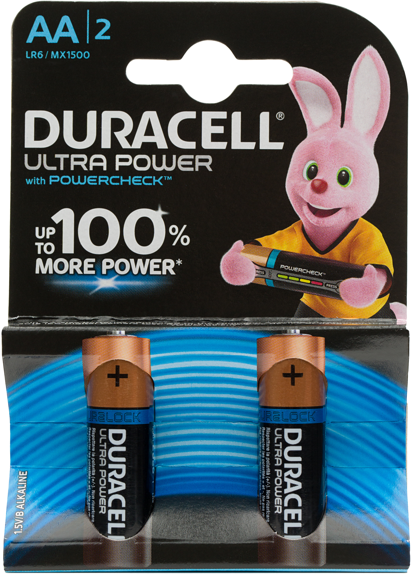 Duracell Батарейки щелочные Ultra Power АА/LR6, 2 шт.