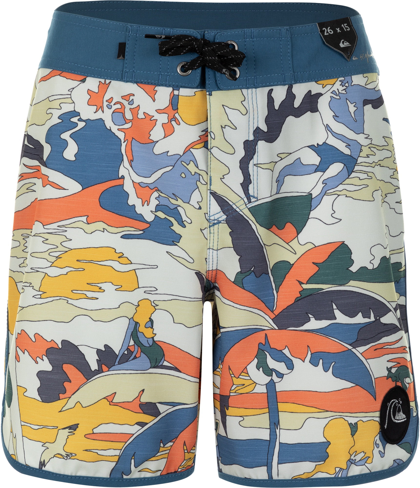 Quiksilver Шорты для мальчиков Quiksilver Highline Feelin Fine Youth 15, размер 164-170 quiksilver штаны прямые детские quiksilver thick wood baby i pant blue salted