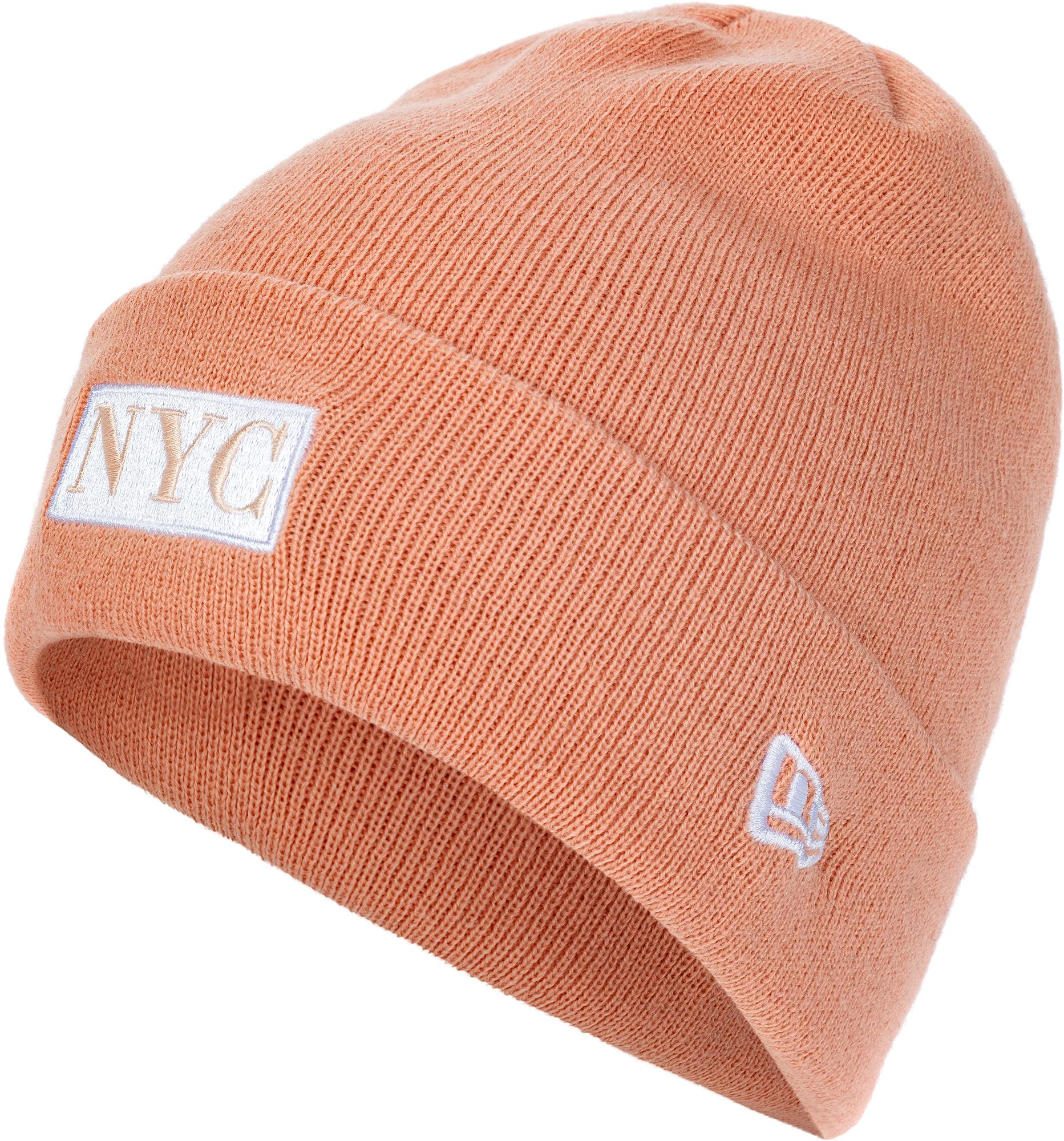 New Era Шапка женская New Era Nyc Cuff Knit new era шапка new era lic 801 essential cuff knit размер без размера