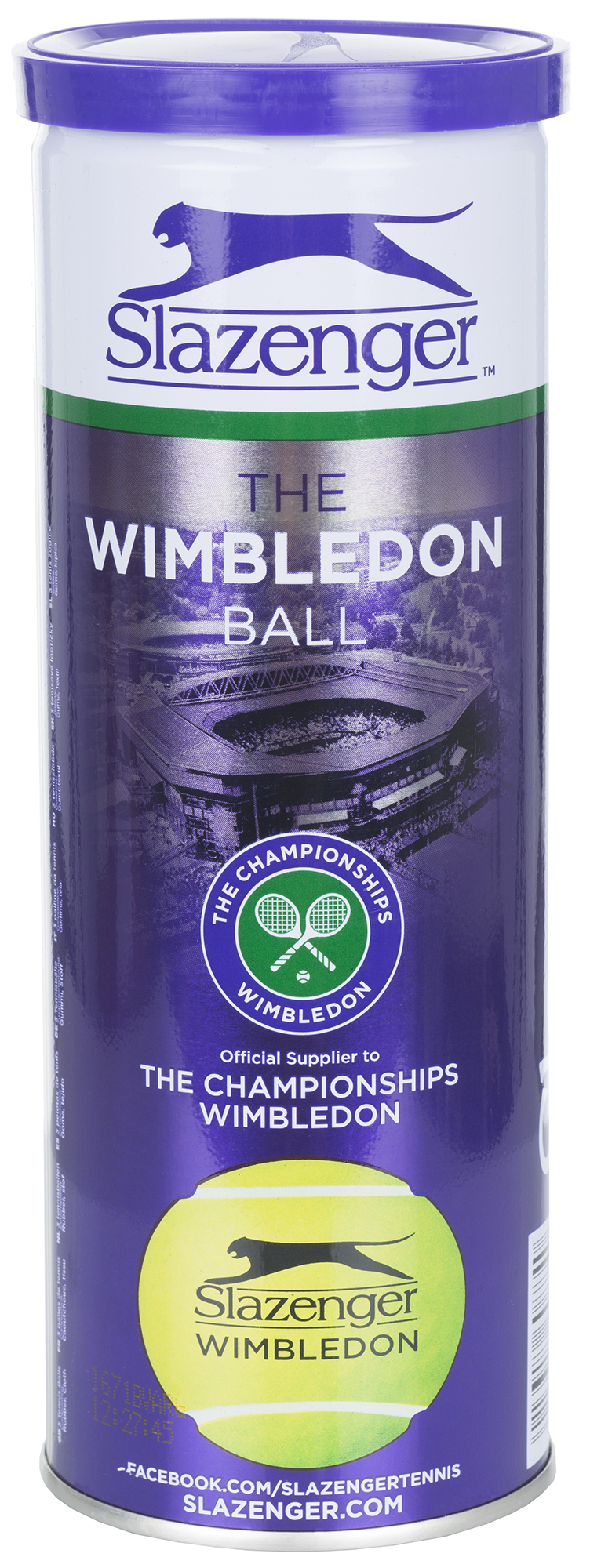 цена на Slazenger Набор теннисных мячей Slazenger Wimbledon Ultra Vis Hydroguard, 3 шт