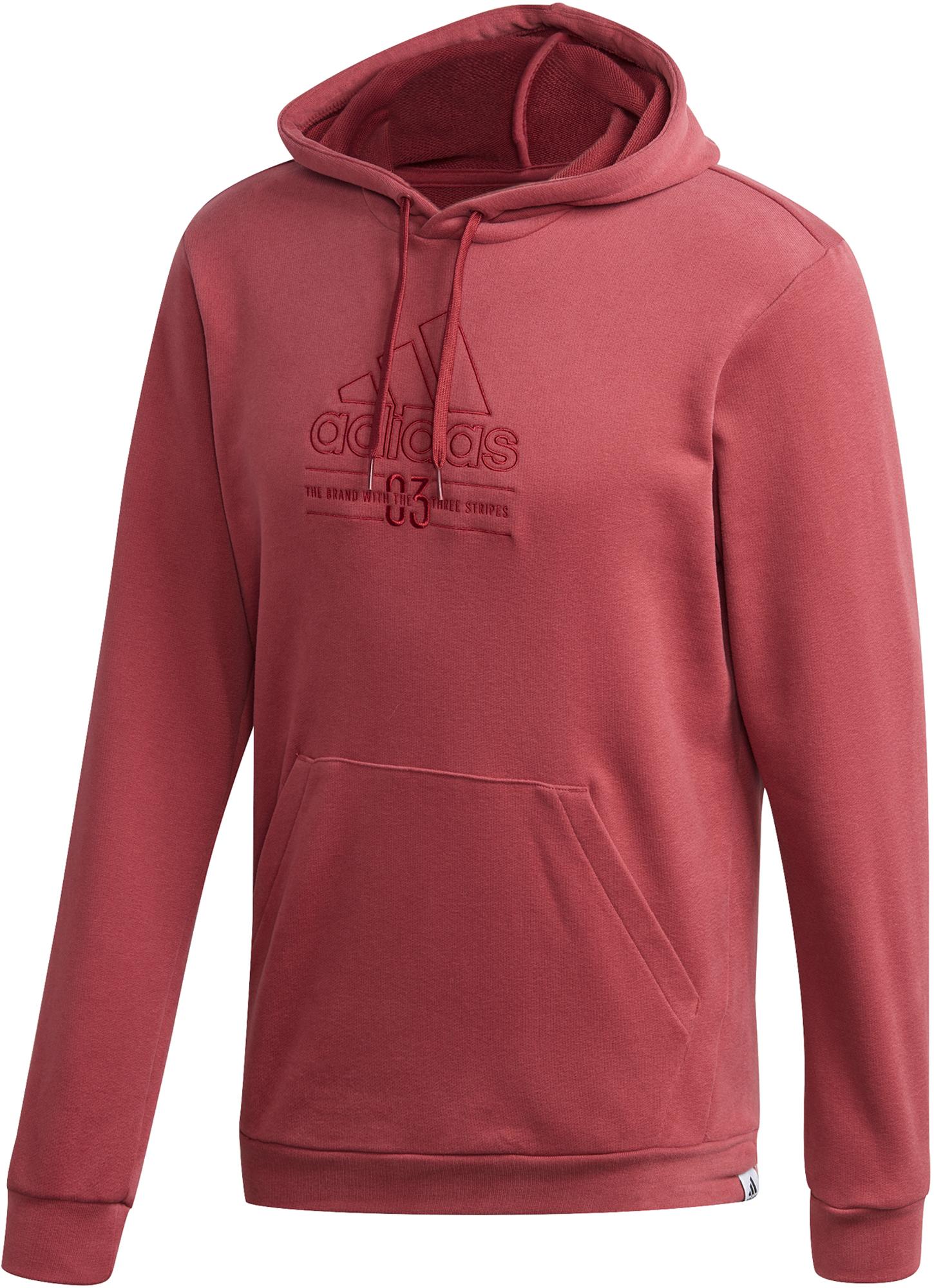 худи женское adidas ess 3s fz hd цвет серый розовый br2438 размер s 42 44 Adidas Худи мужская adidas Brilliant Basics, размер 44-46