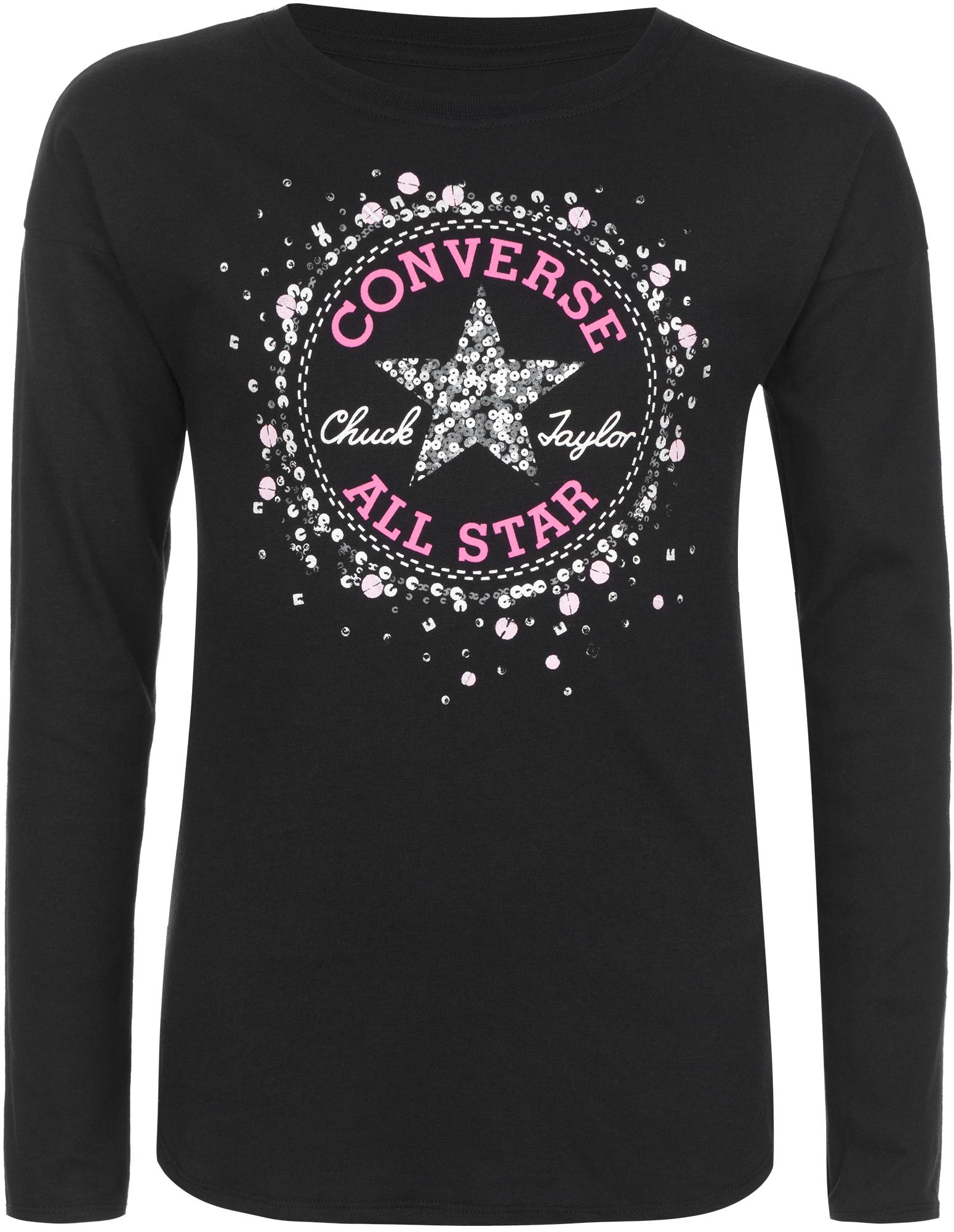 Converse Футболка с длинным рукавом для девочек Converse