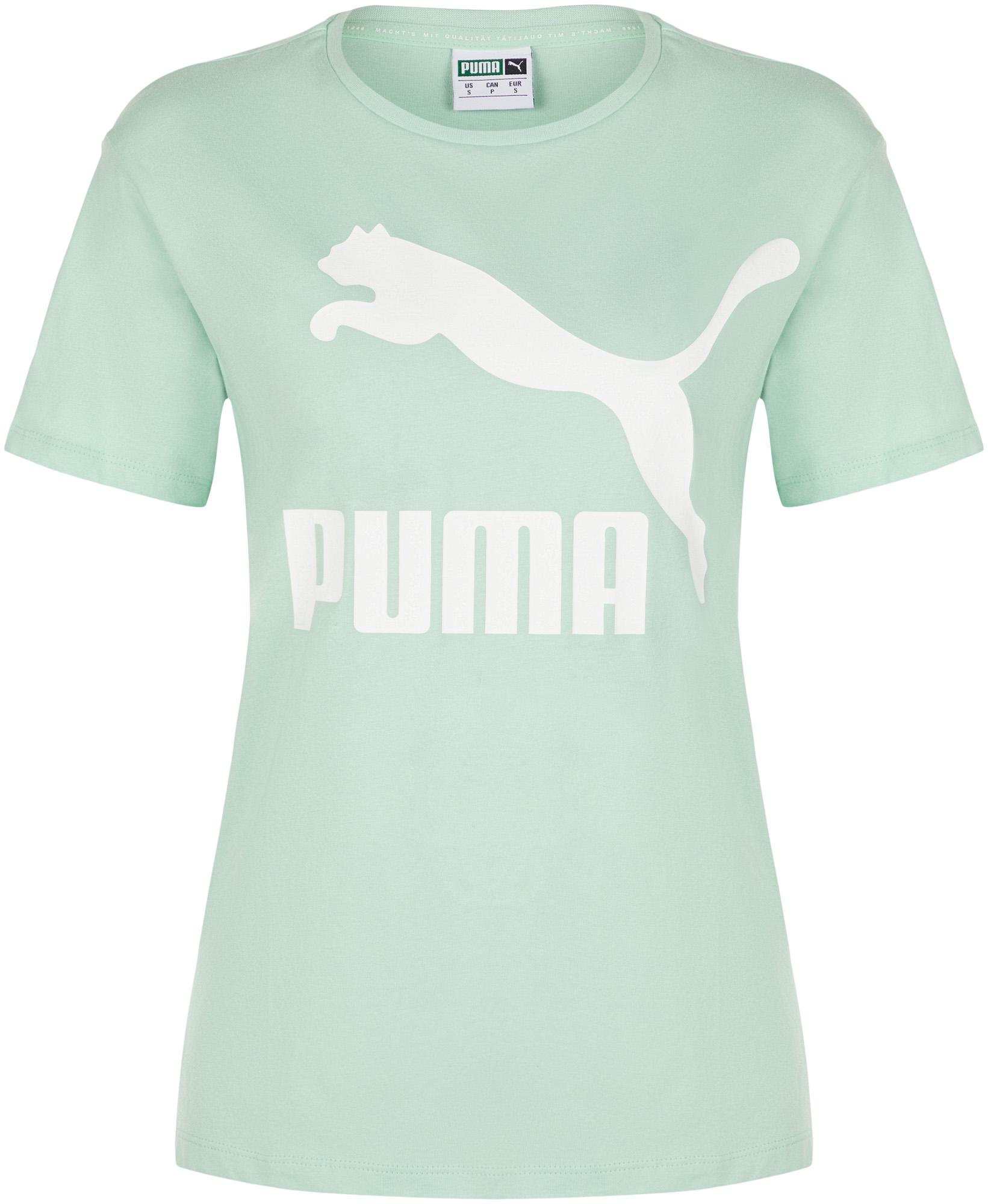 Puma Футболка женская Puma Classics Logo, размер 46-48 цена 2017