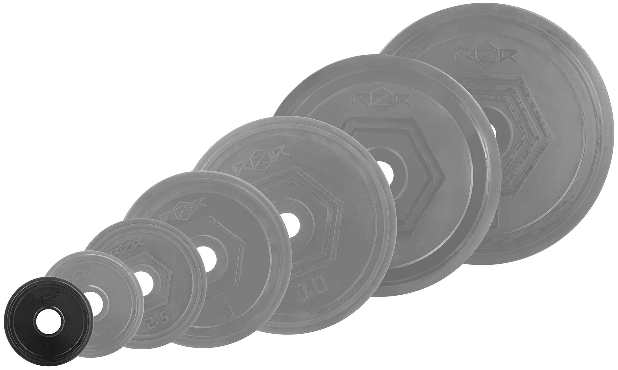 RZR Блин стальной обрезиненный RZR 0,5 кг диск обрезиненный titan 51 мм 5 кг черный