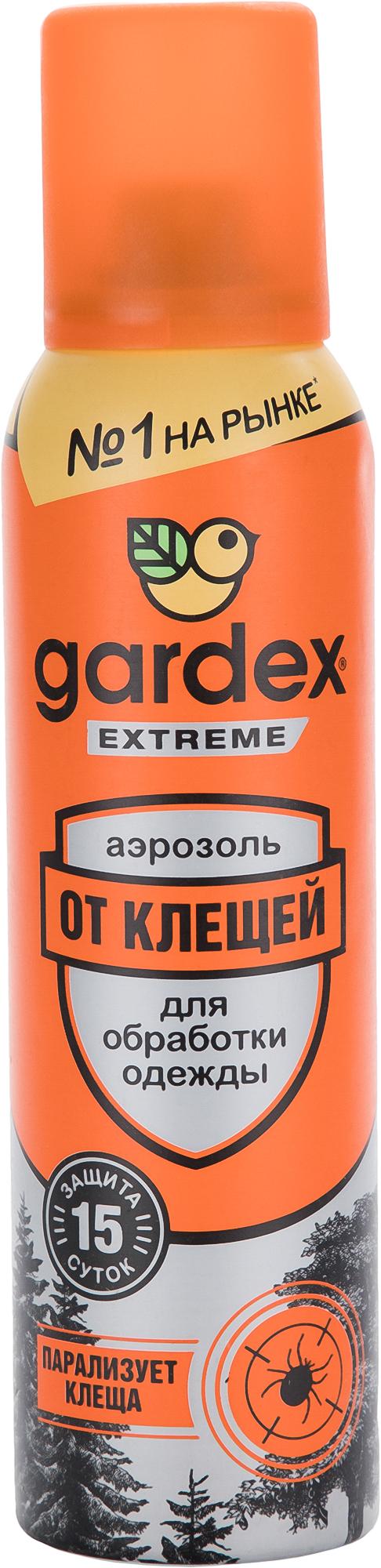 Gardex Аэрозоль от клещей Gardex Extreme, 150 мл отмывочная жидкость solins degreaser 400ml от жира и масла аэрозоль