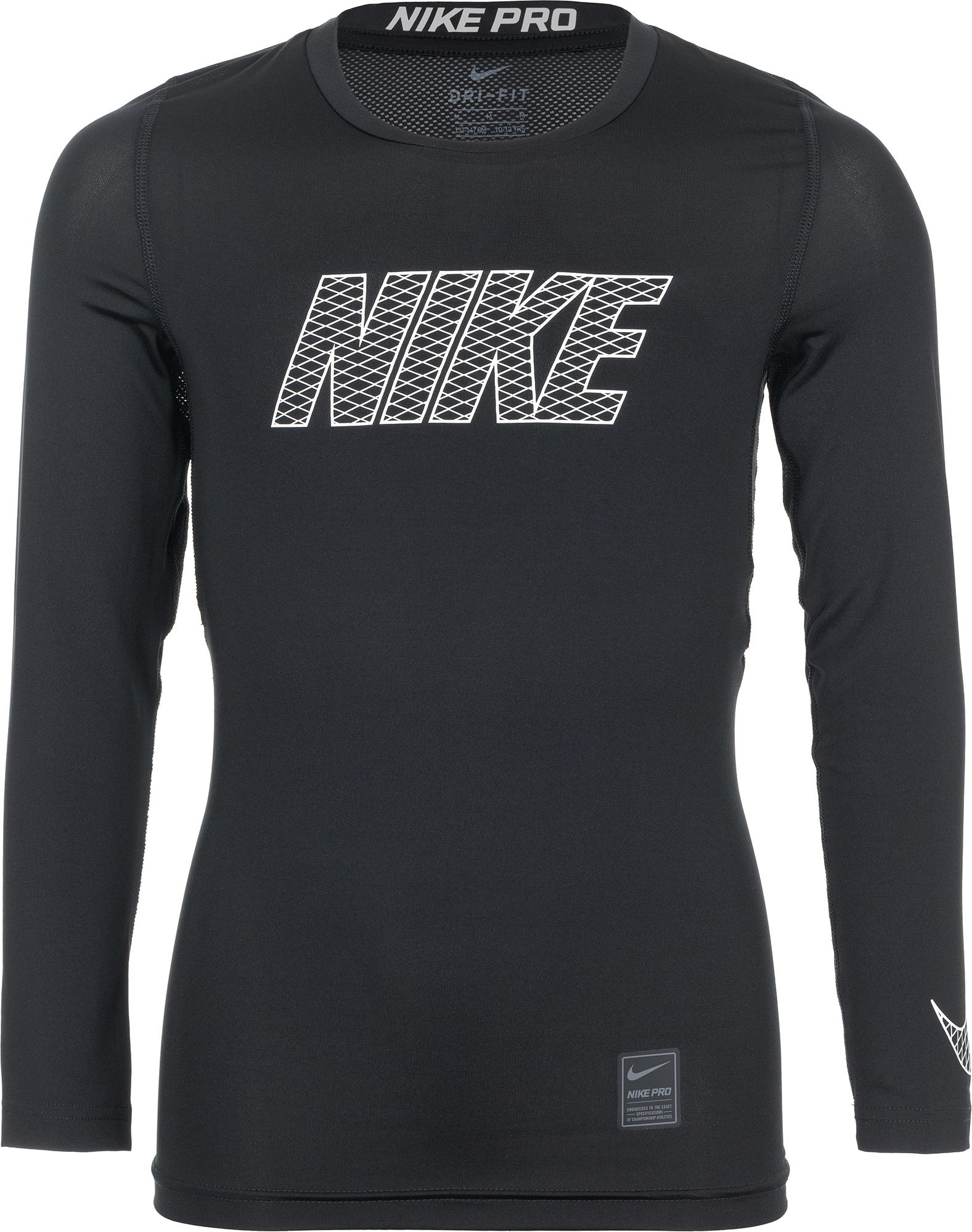 Nike Футболка с длинным рукавом для мальчиков Nike Pro, размер 158-170 цена