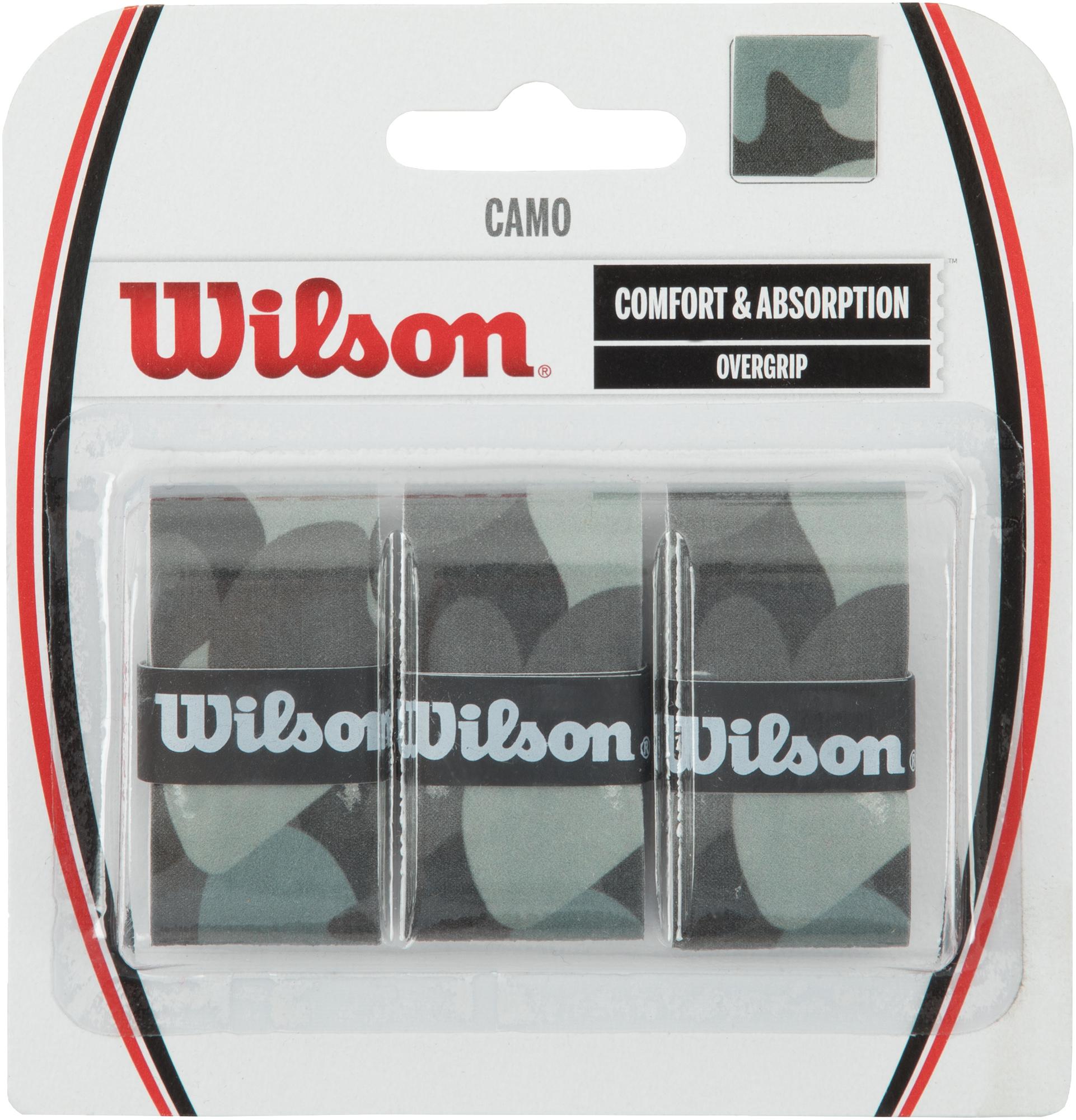 Wilson Намотка верхняя Wilson CAMO OVERGRIP овергрип babolat pro team sp overgrip x3 цвет синий