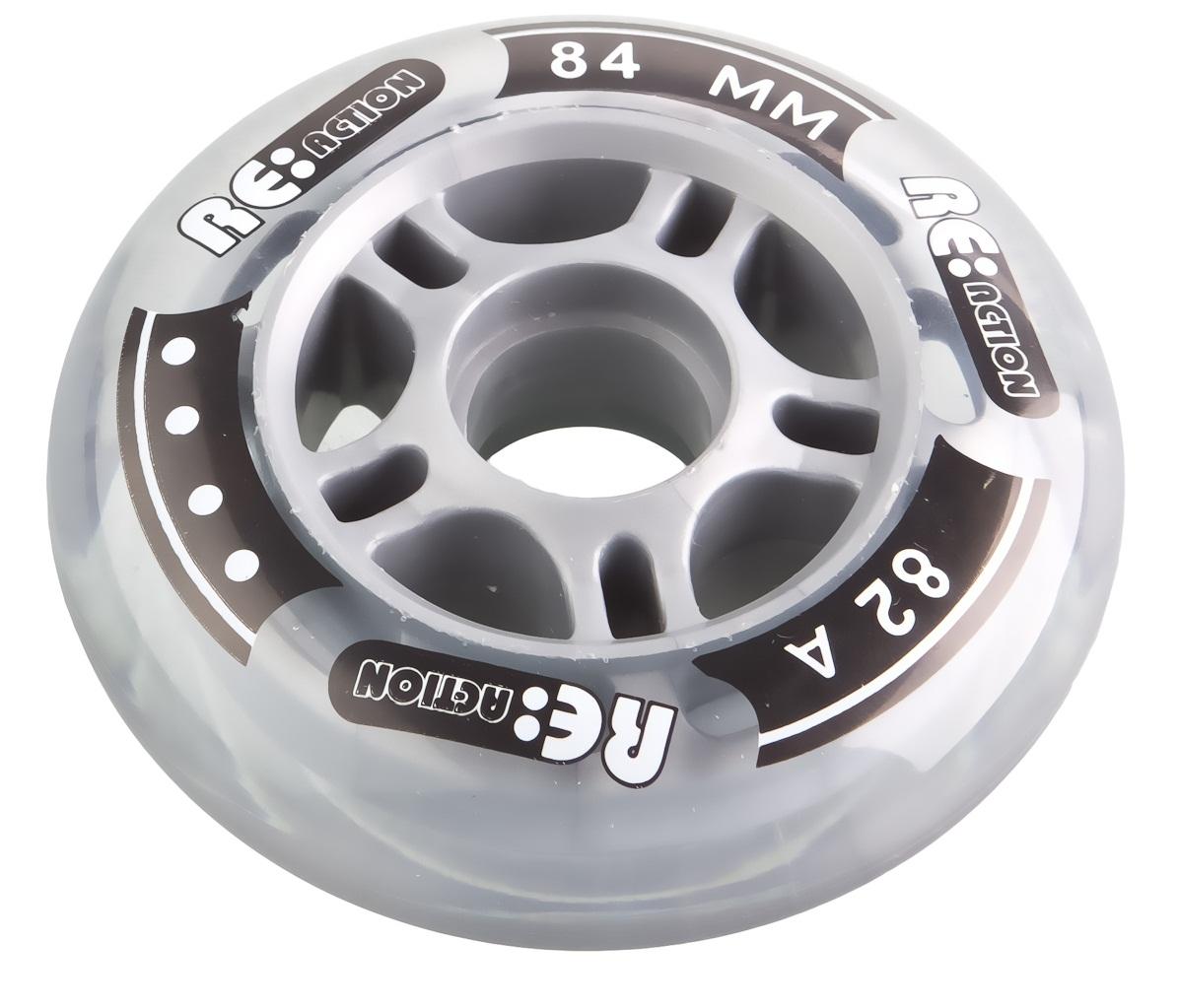 REACTION Набор колес для роликов REACTION 84 мм, 82А, 4 шт reaction колесо для самоката reaction 125 мм