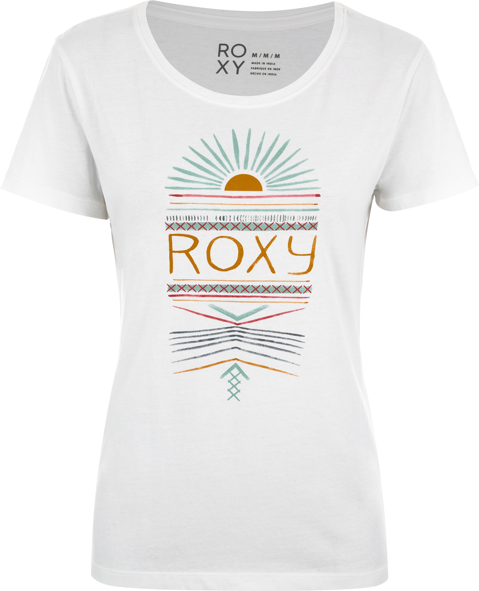 Roxy Футболка женская Roxy Itty Be Tee Ethnical Sun, размер 48-50 цена