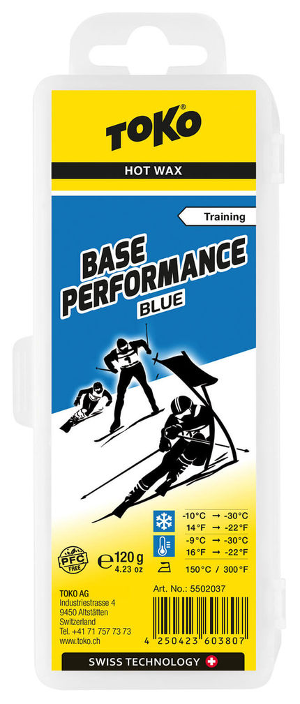 Toko Мазь скольжения TOKO Base Performance blue 120g, -10C/-30C