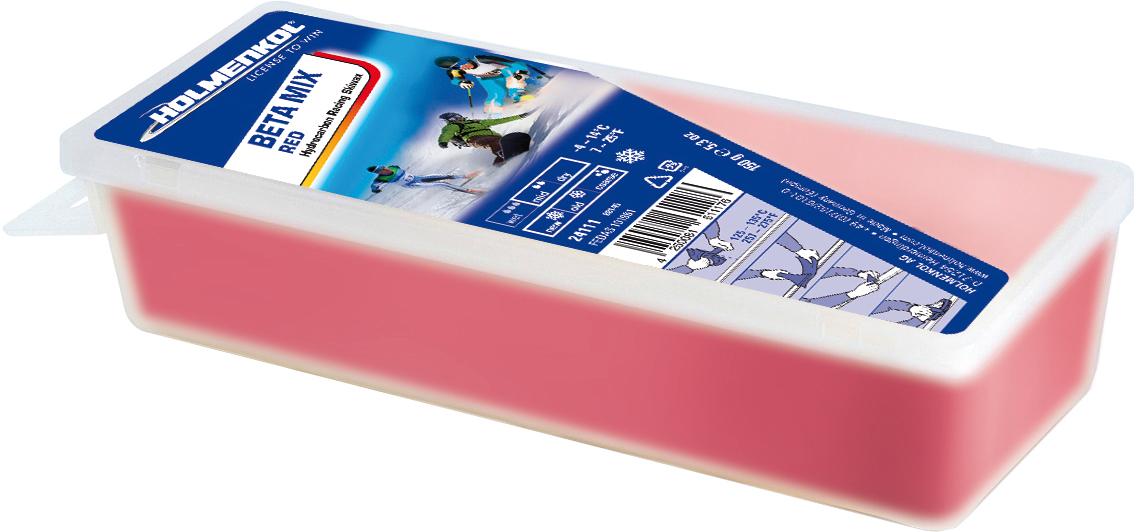 Holmenkol Мазь скольжения твердая для лыж и сноубордов HOLMENKOL Beta Mix Red парафин holmenkol holmenkol betamix красный