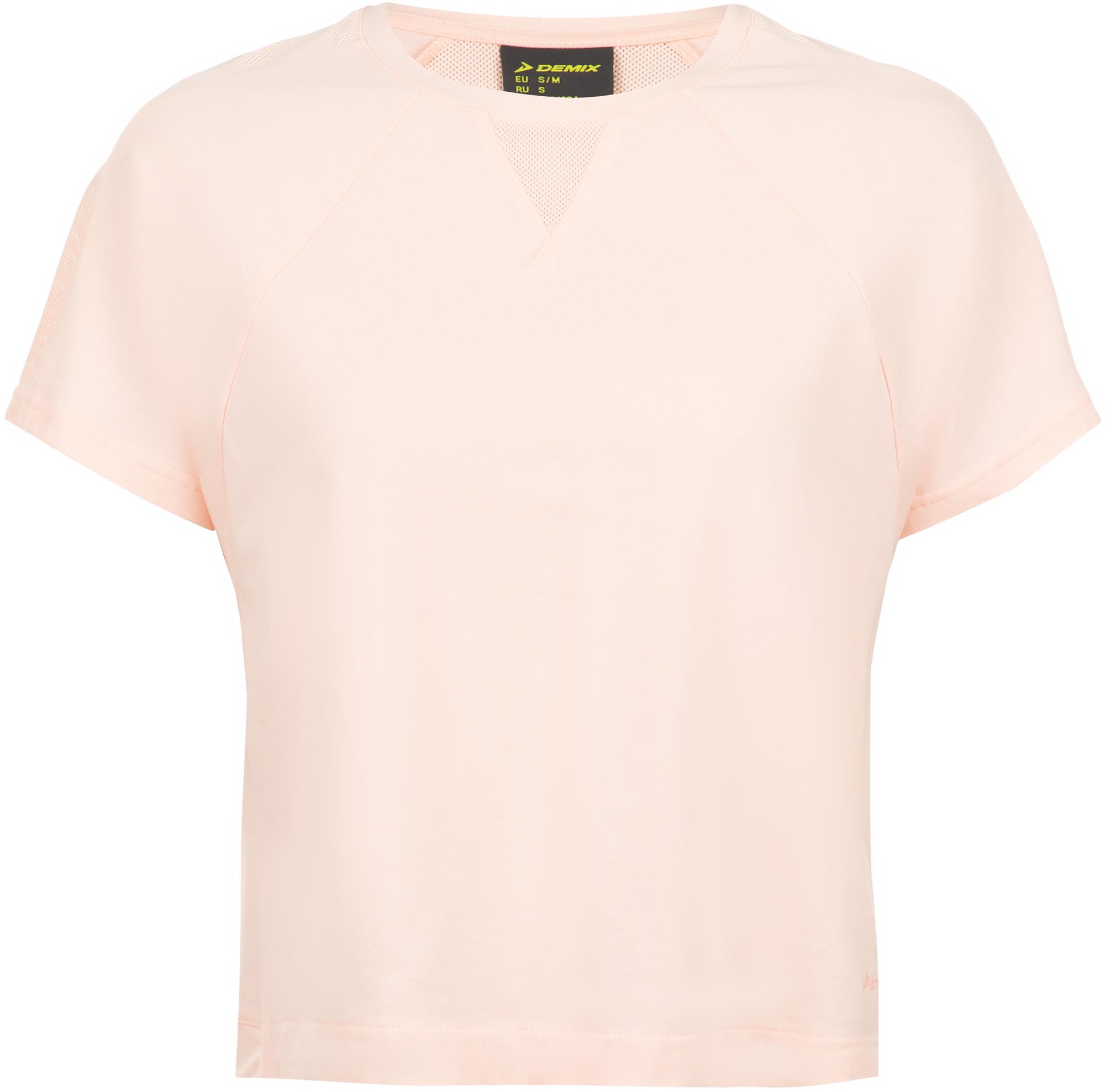 футболка женская oodji ultra цвет бежево розовый 14701005 7b 46147 4b00n размер s 44 Demix Футболка женская Demix, размер 44