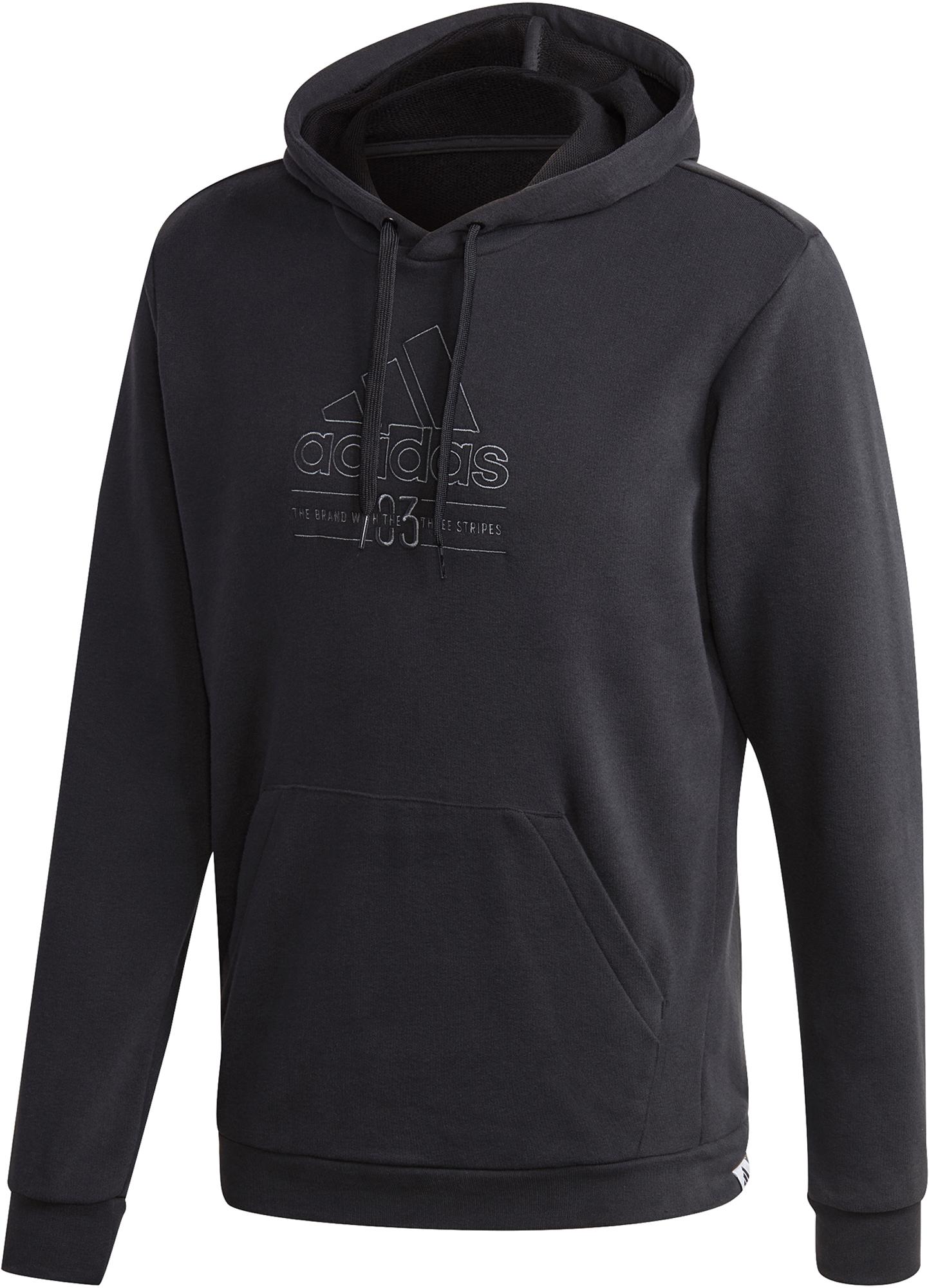худи женское adidas ess 3s fz hd цвет серый розовый br2438 размер s 42 44 Adidas Худи мужская adidas Brilliant Basic, размер 52-54