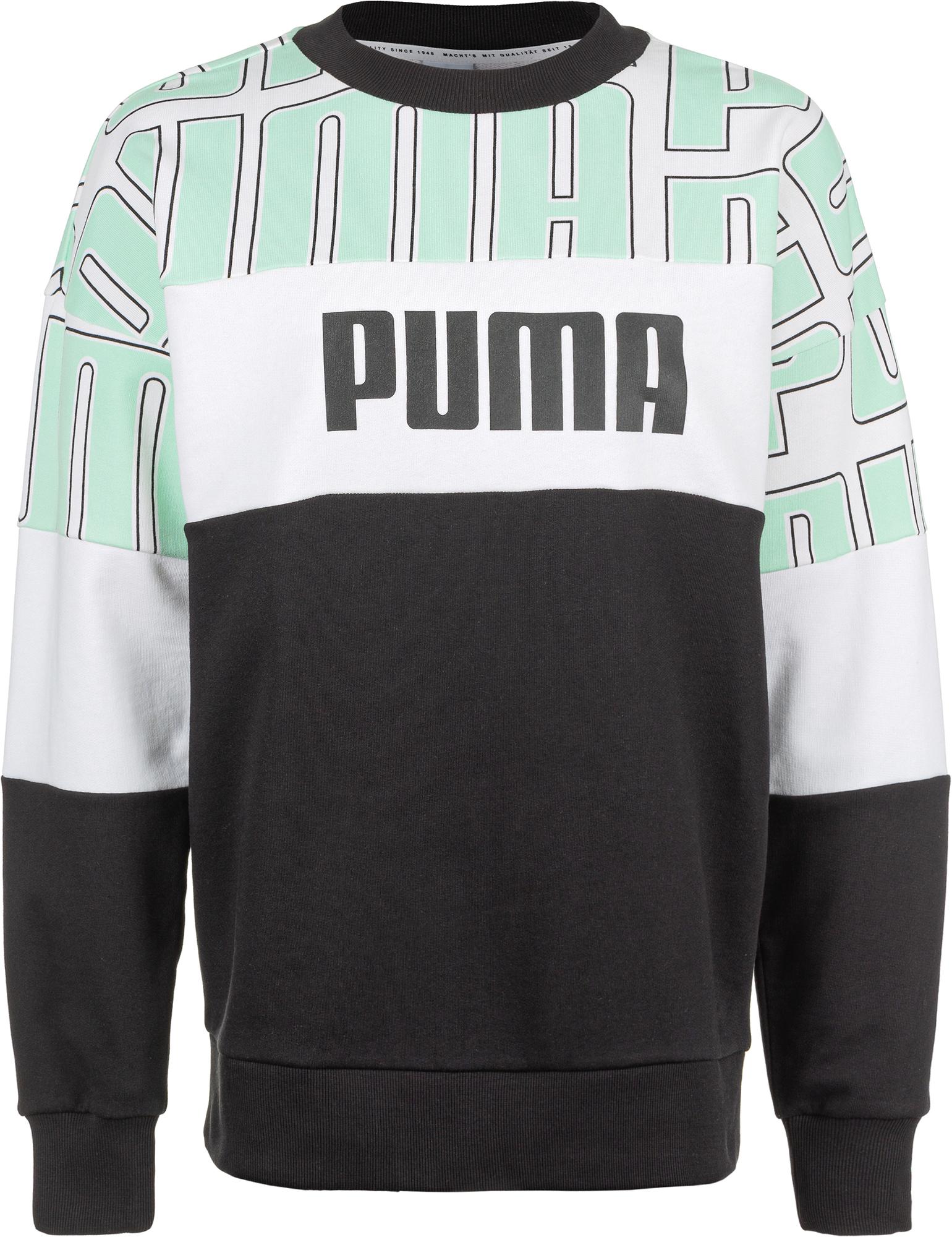 пуховик женский puma 70 30 480 down jacket цвет молочный 85166611 размер m 44 46 Puma Свитшот женский Puma AOP Crew, размер 44-46