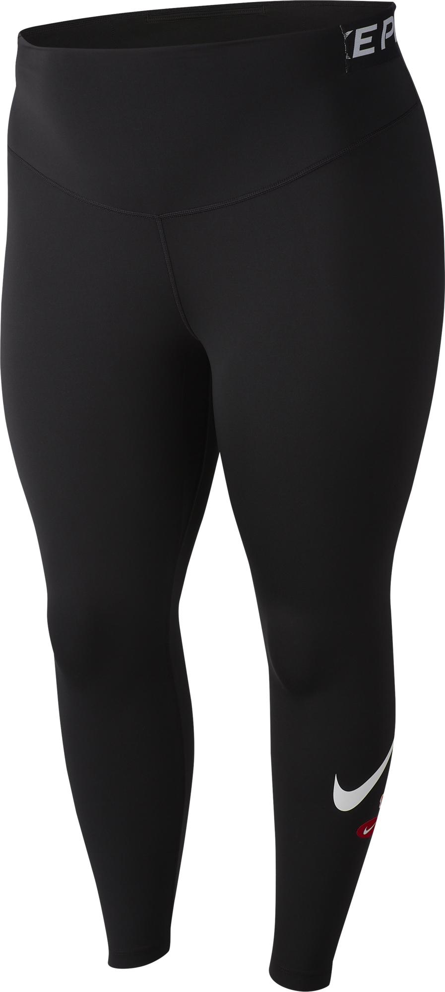 цена на Nike Легинсы женские Nike One, Plus Size, размер 52-54