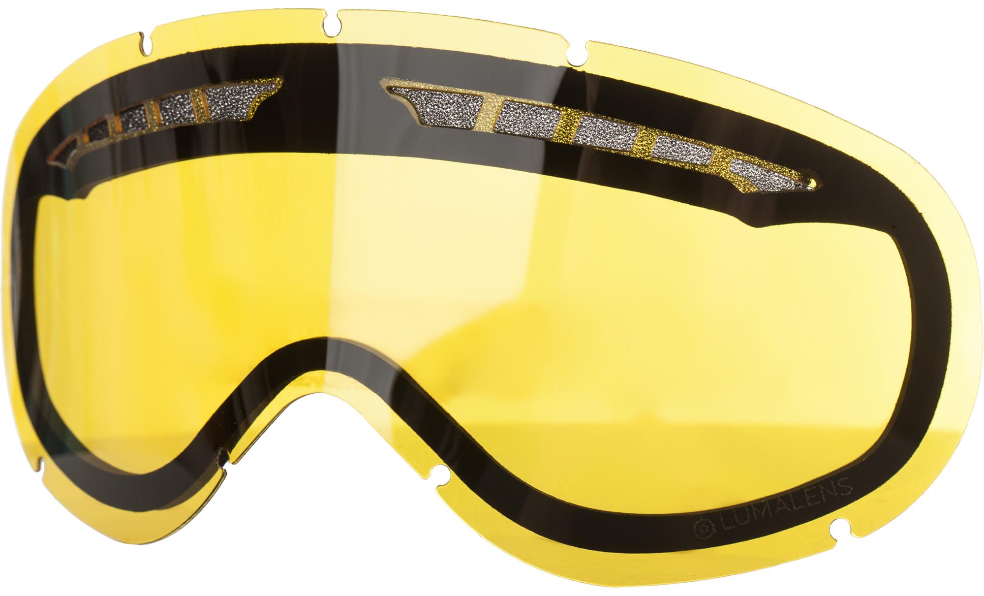 Dragon Линза для маски Dragon DX RPL LENS - Lumalens Yellow линза для маски мото вело oakley half jacket xlj repl lens kit black iridium
