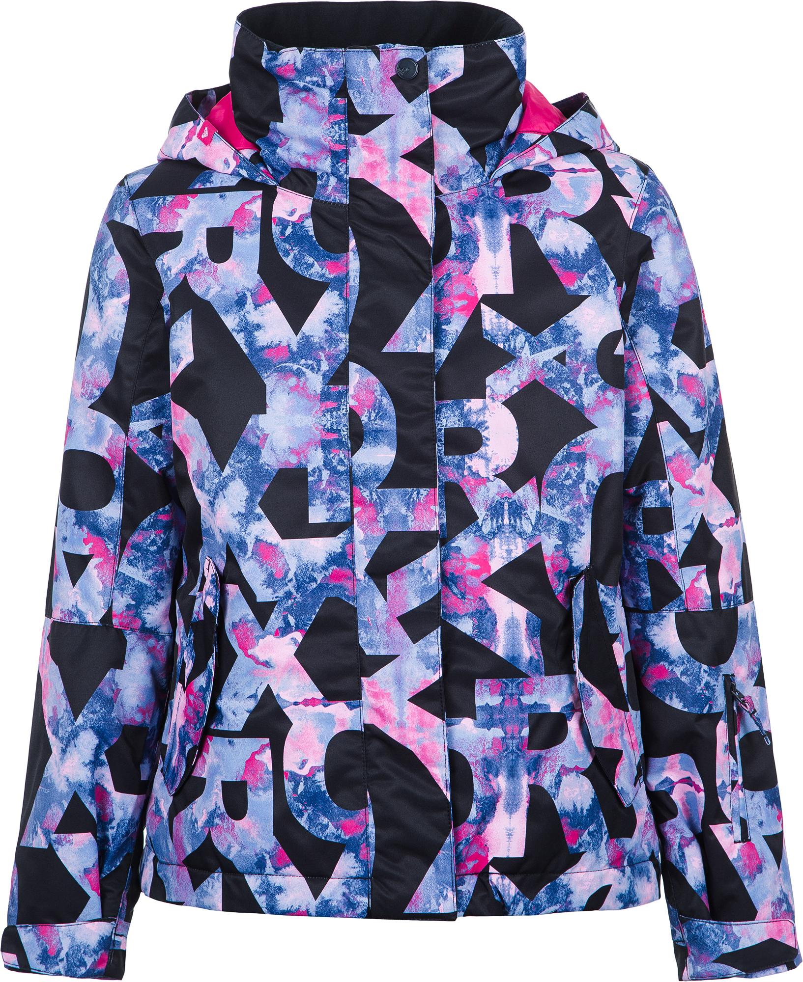 Roxy Куртка утепленная для девочек Roxy Jetty Girl, размер 164-170 roxy куртка женская roxy jetty размер 46 48