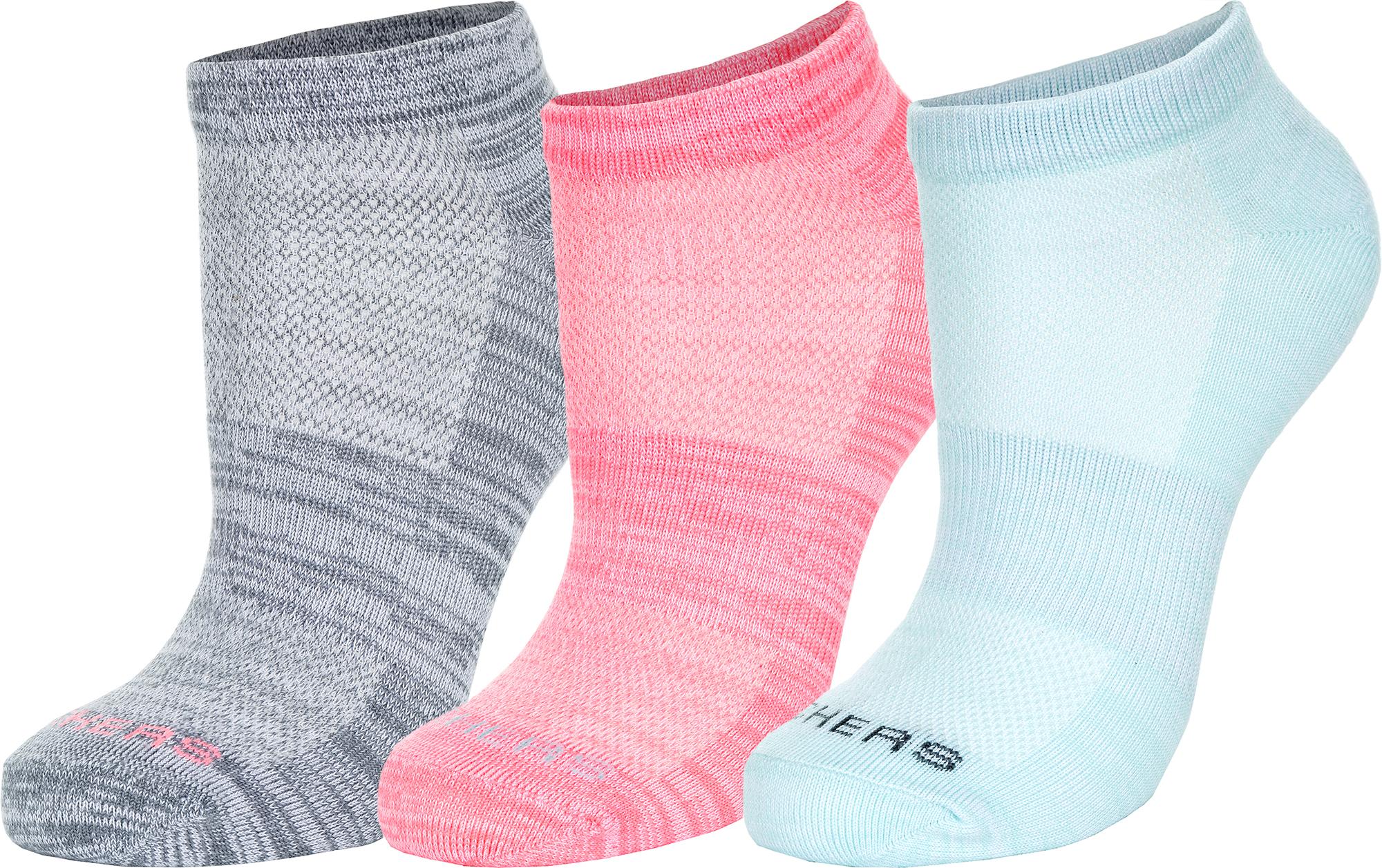 Skechers Носки женские Skechers, 3 пары, размер 35-39 skechers носки женские skechers 3 пары размер 35 39