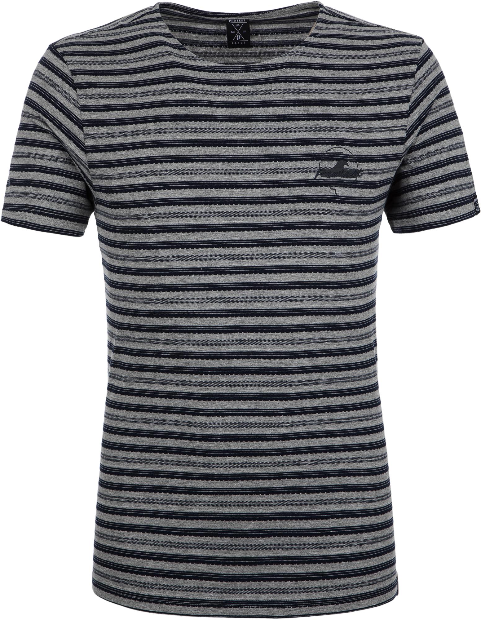 футболка мужская quiksilver цвет серый eqyzt04286 ktah размер l 50 52 Protest Футболка мужская Protest Belper, размер 50-52