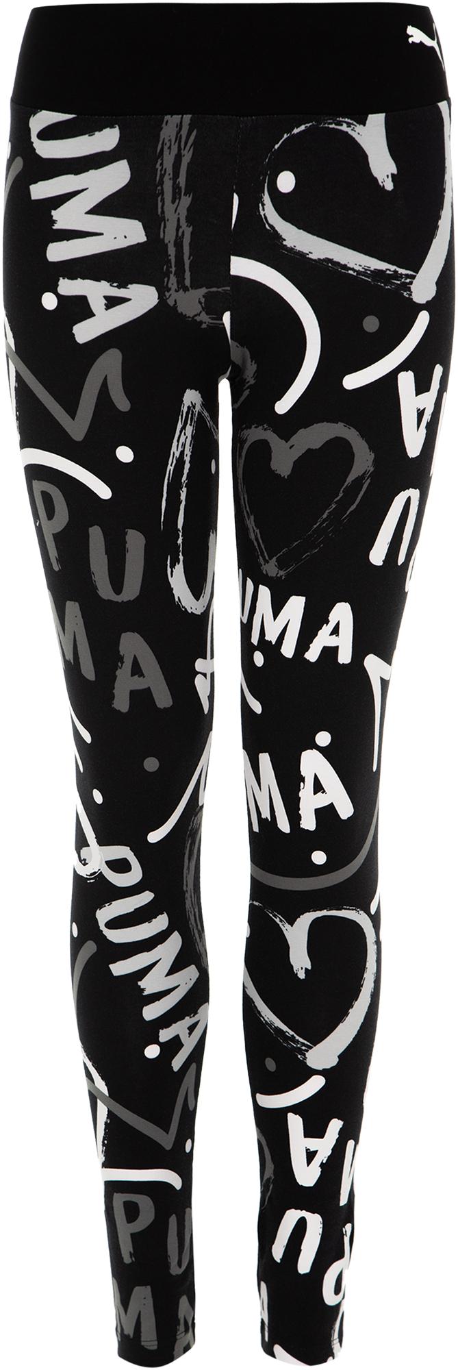цена Puma Легинсы для девочек Puma Alpha AOP, размер 164 онлайн в 2017 году