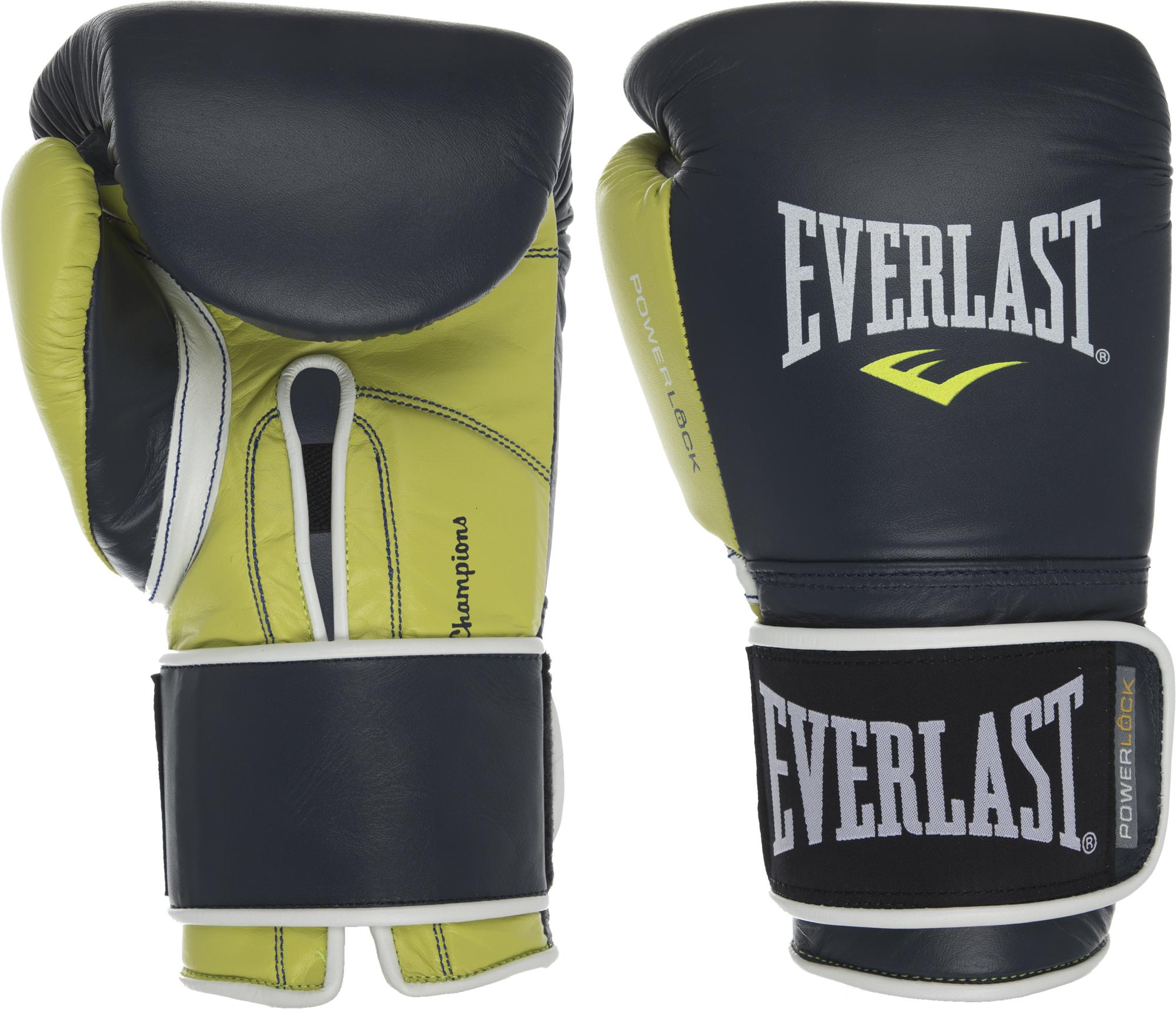 Everlast Перчатки боксерские Everlast POWERLOCK Leather, размер 14 oz