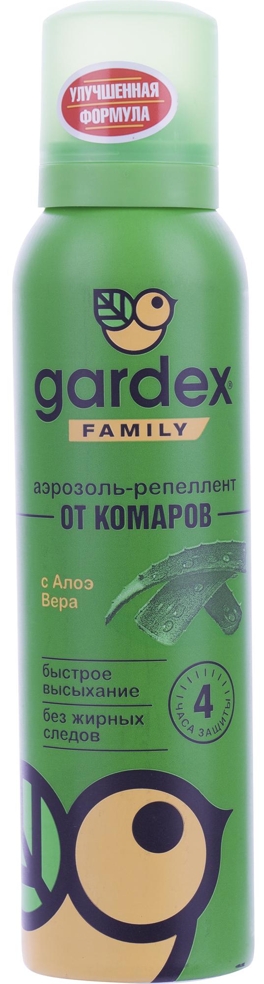 Gardex Аэрозоль-репеллент от комаров Gardex Family, 150 мл отмывочная жидкость solins degreaser 400ml от жира и масла аэрозоль