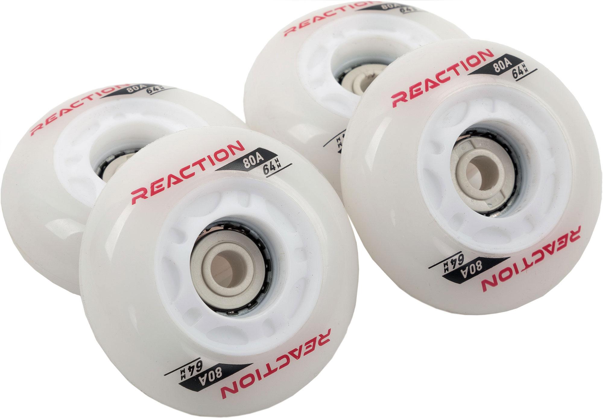 цена Reaction Набор колес для роликов REACTION 64 мм, 80А, 4 шт онлайн в 2017 году