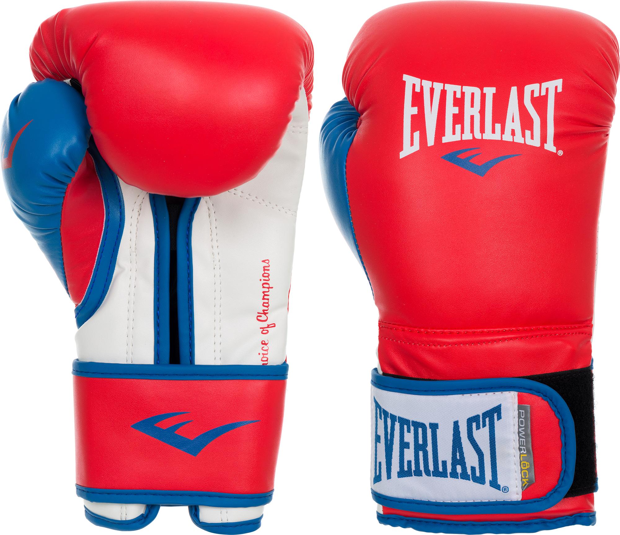 Everlast Перчатки боксерские Everlast Powerlock лапы everlast боксерские лапы vinyl mantis