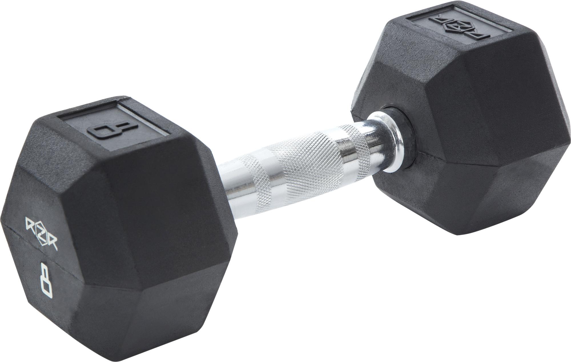 RZR Гантель гексагональная обрезиненная, 8 кг -HEX-08 цена