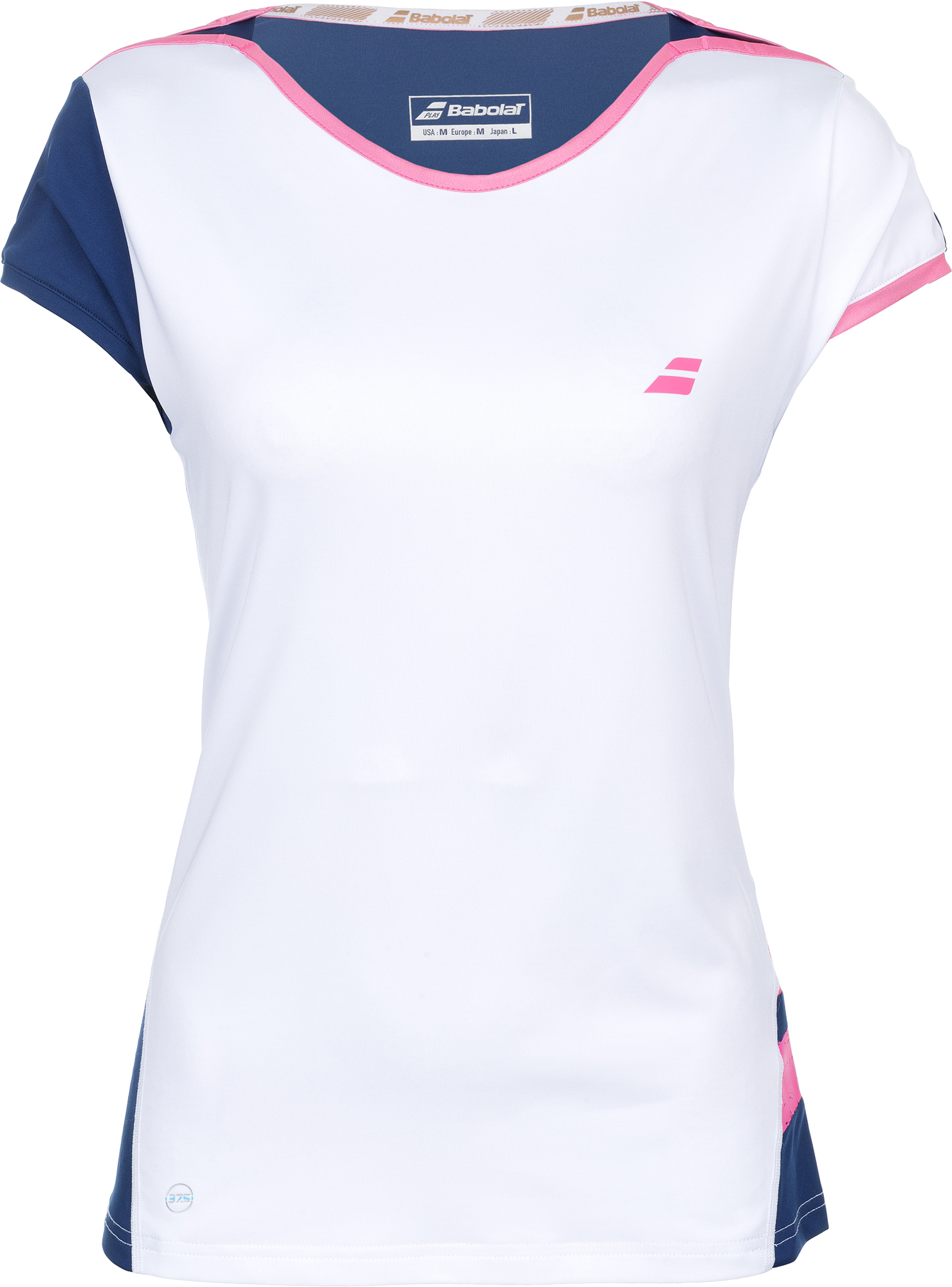 Babolat Футболка женская Babolat Perf Cap Sleeve Top, размер 46-48 buttoned closure back cut and sew cap sleeve top