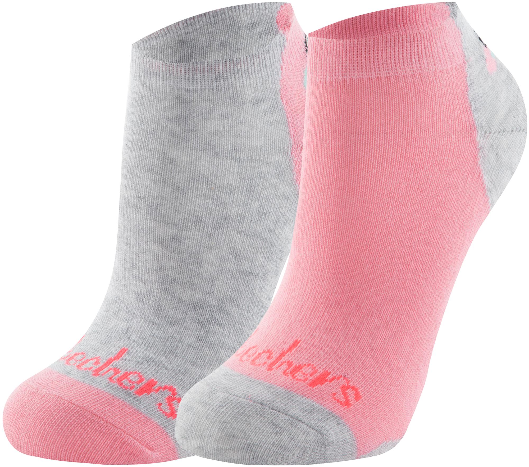 Skechers Носки для девочек Skechers, 2 пары, размер 24-35