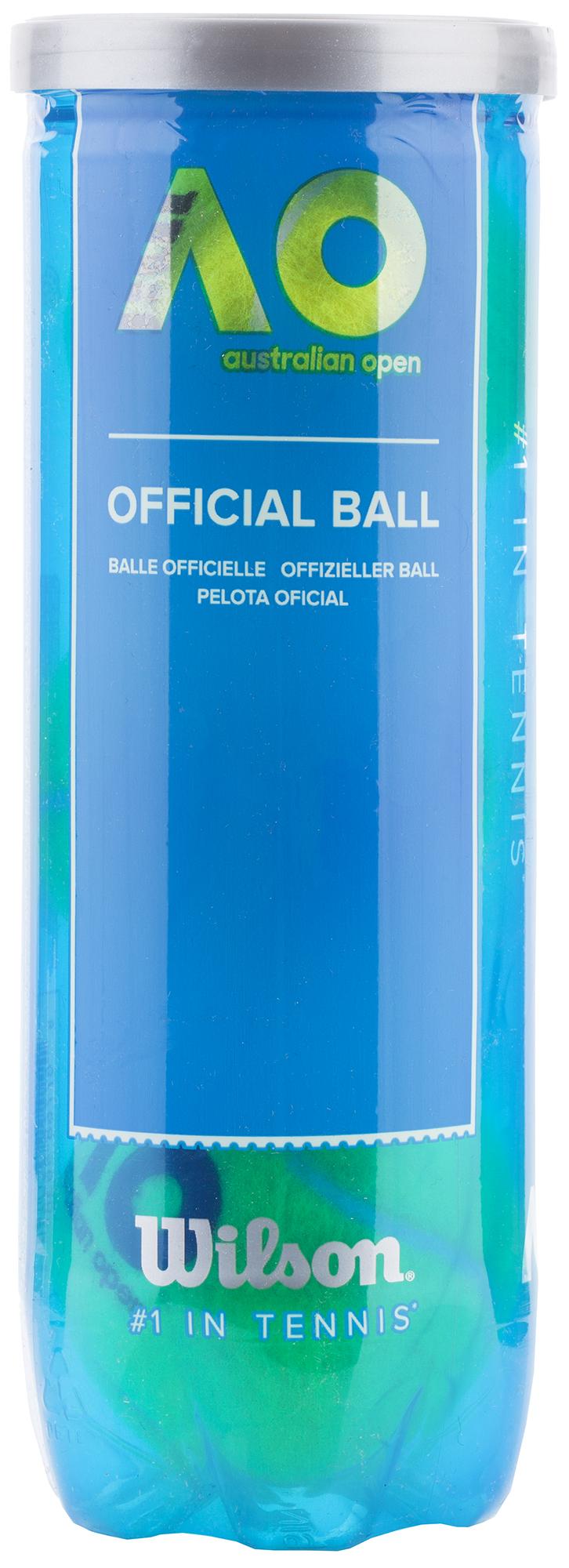 Wilson Набор мячей для большого тенниса Wilson AUSTRALIAN OPEN 3 BALL CAN мячи теннисные wilson australian open 3 ball