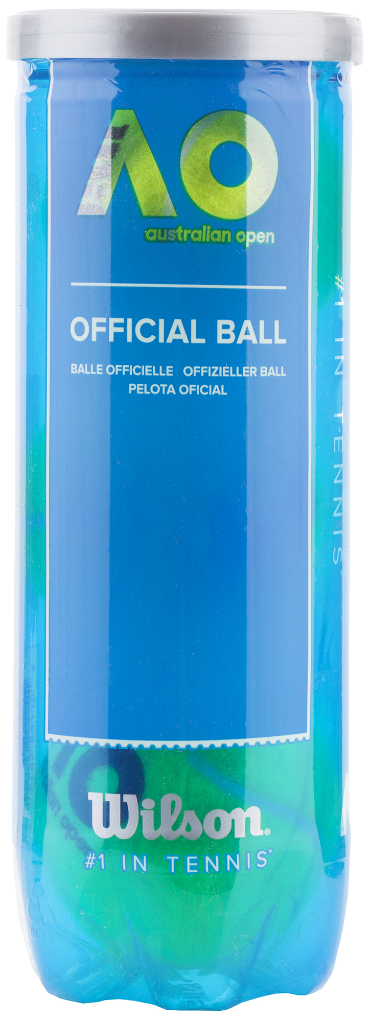 Wilson Набор мячей для большого тенниса Wilson AUSTRALIAN OPEN 3 BALL CAN, размер Без размера wilson набор мячей для большого тенниса wilson us open x3 размер без размера