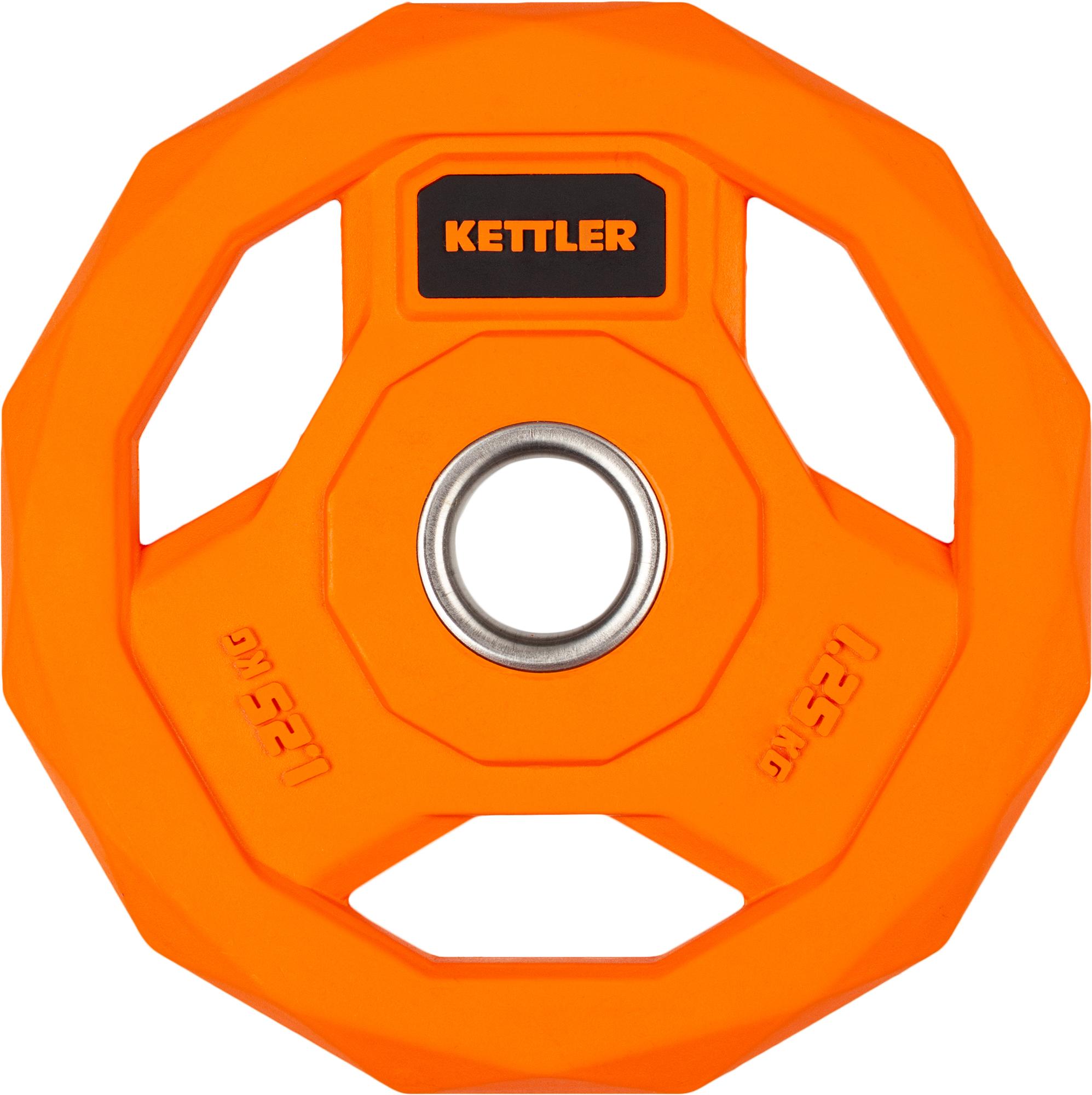 Kettler Блин стальной обрезиненный Kettler 1,25 кг цена в Москве и Питере