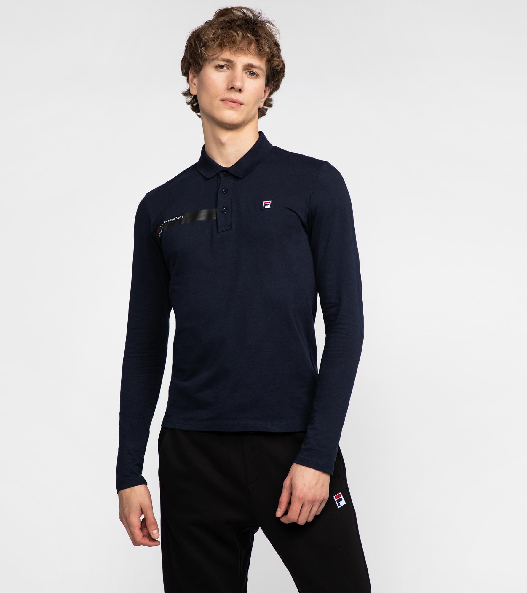 Fila Поло мужское Fila, размер 54 fila футболка с длинным рукавом женская fila размер 52