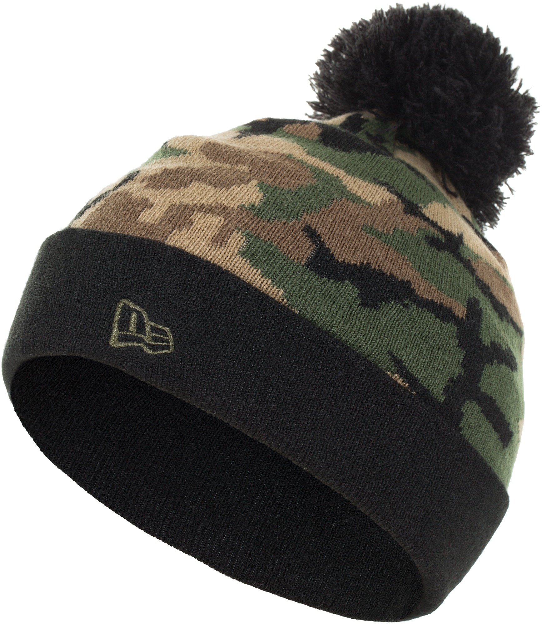 New Era Шапка для мальчиков New Era Lic 873 Kids Camo Knit, размер 54-55 цена