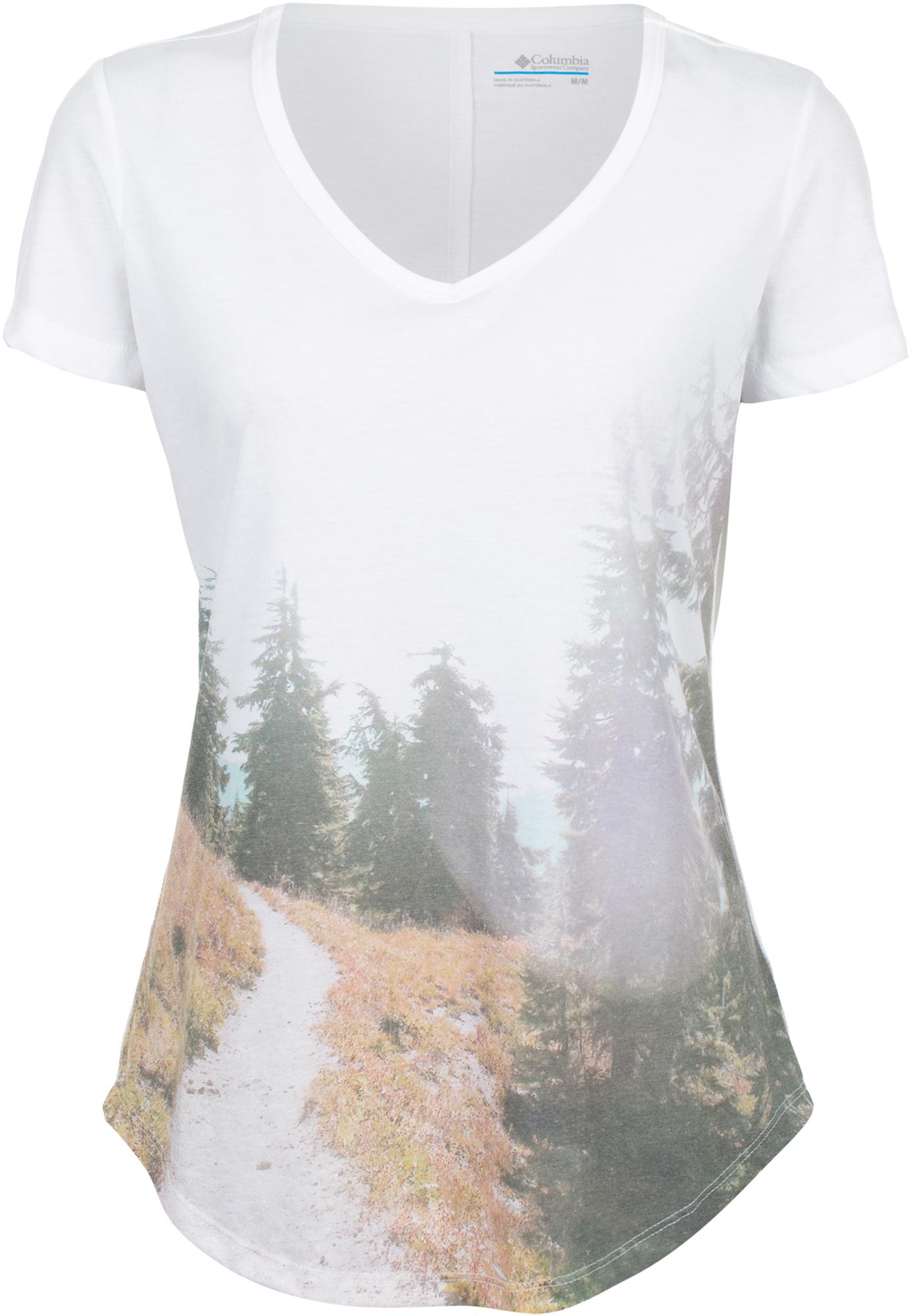Columbia Футболка женская Columbia Piney FallsSS Tee, размер 48 футболка женская levi s® tees graphic ss цвет розовый 1736904090 размер xl 50
