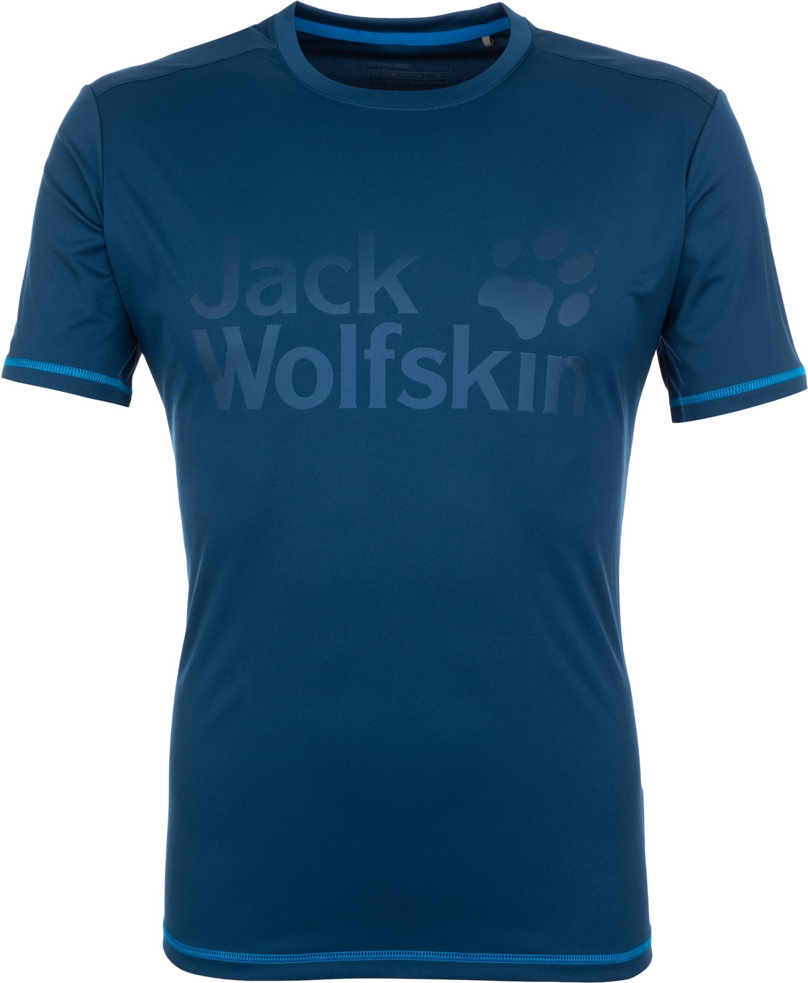Jack Wolfskin Футболка мужская JACK WOLFSKIN Sierra, размер 44 футболка для мальчика jack wolfskin brand t boys цвет темно голубой 1607241 1087 размер 176 182