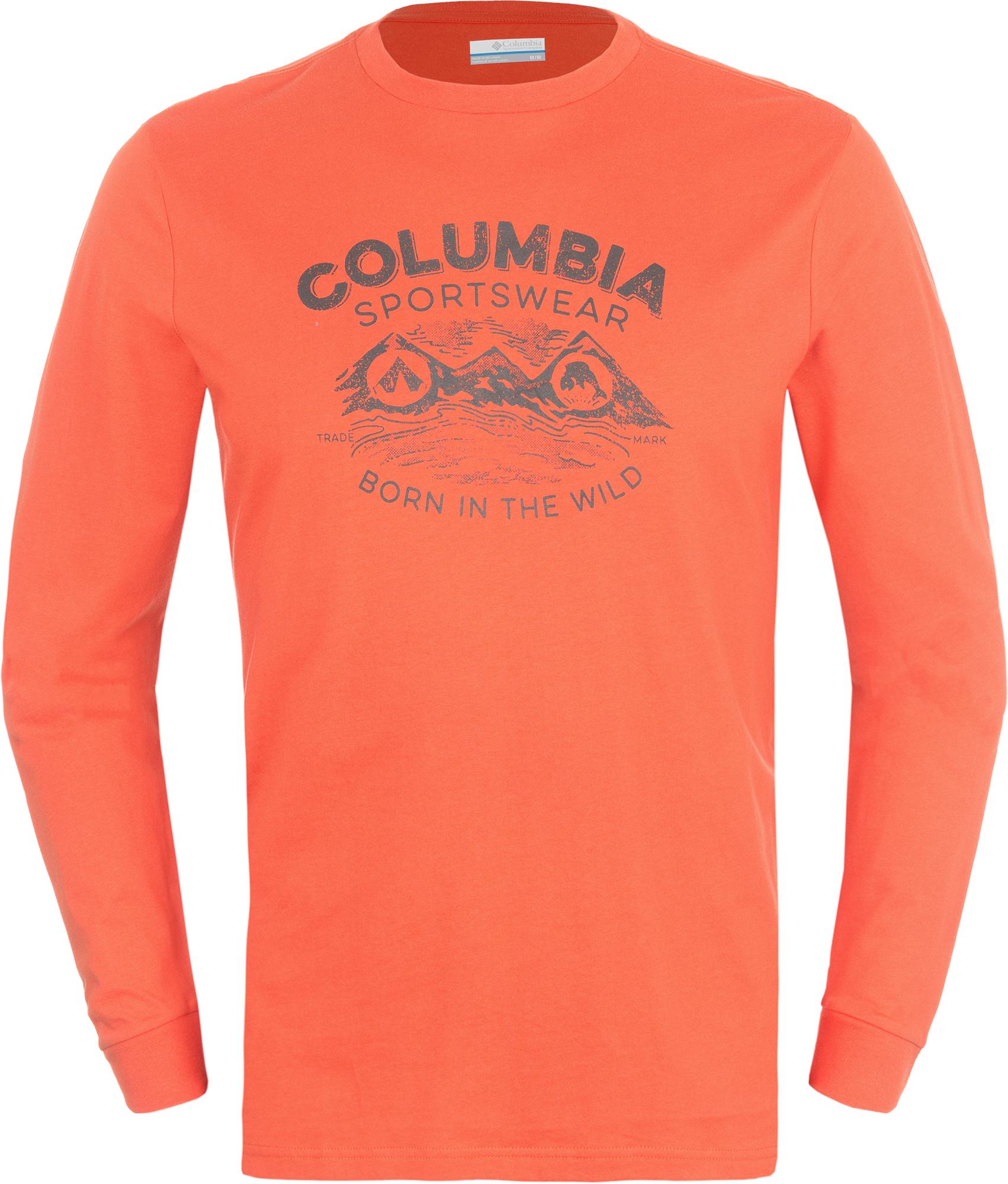 Columbia Футболка с длинным рукавом мужская Columbia Born In The Wild columbia рубашка с длинным рукавом мужская columbia boulder ridge