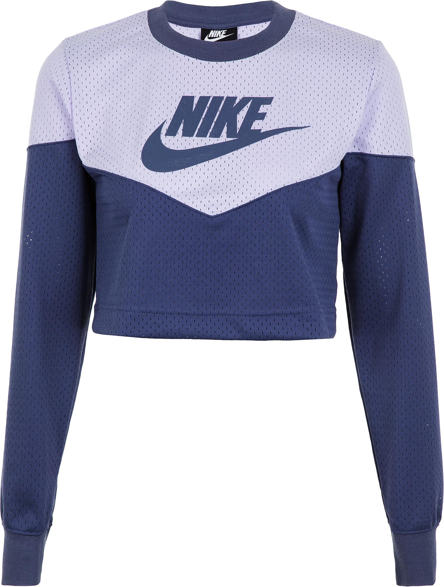 Nike Лонгслив женский Nike Sportswear Heritage, размер 46-48 леггинсы женские nike sportswear leggings цвет серый 883657 036 размер m 46 48