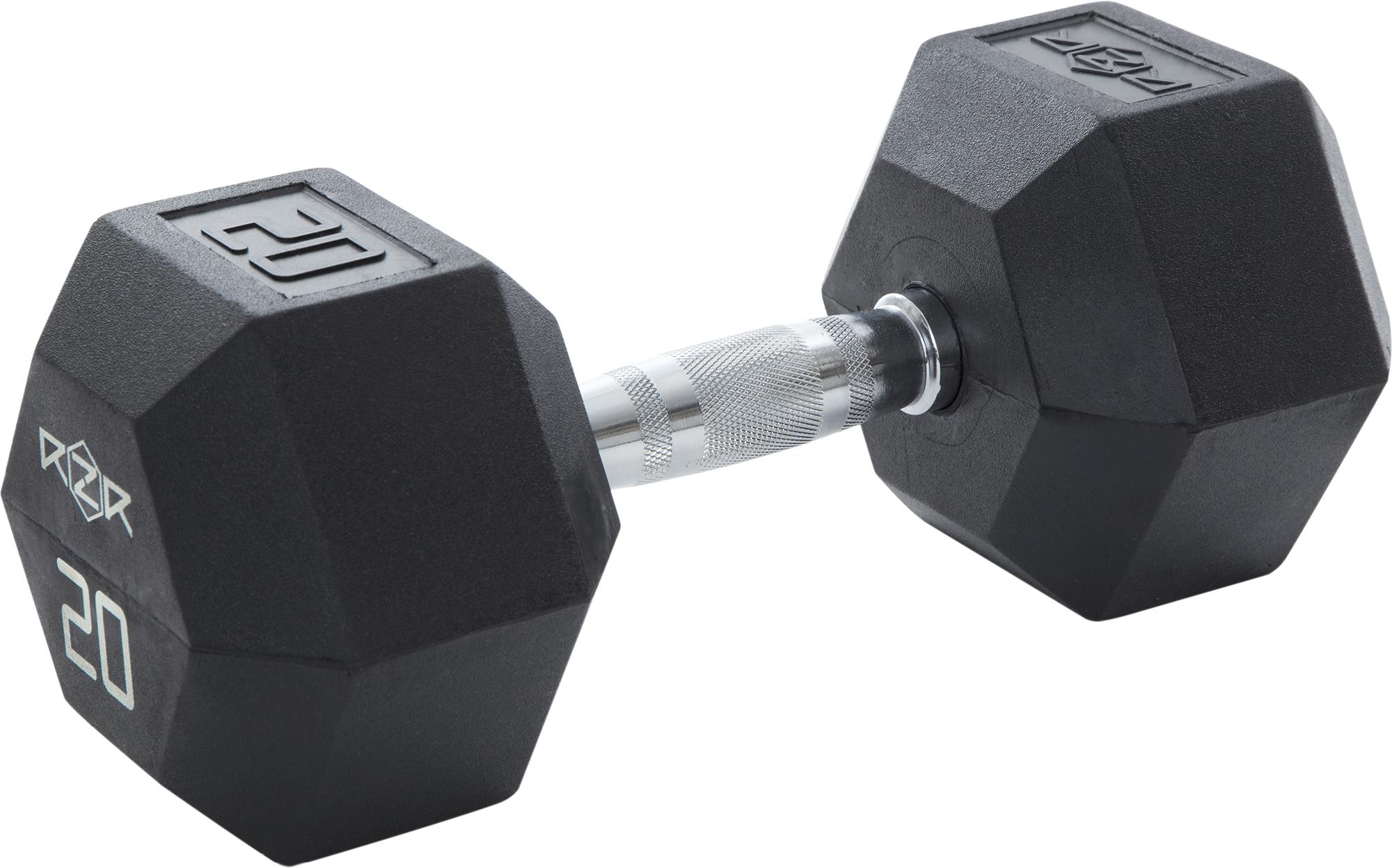 RZR Гантель гексагональная обрезиненная, 20 кг RZR-HEX-20 все цены