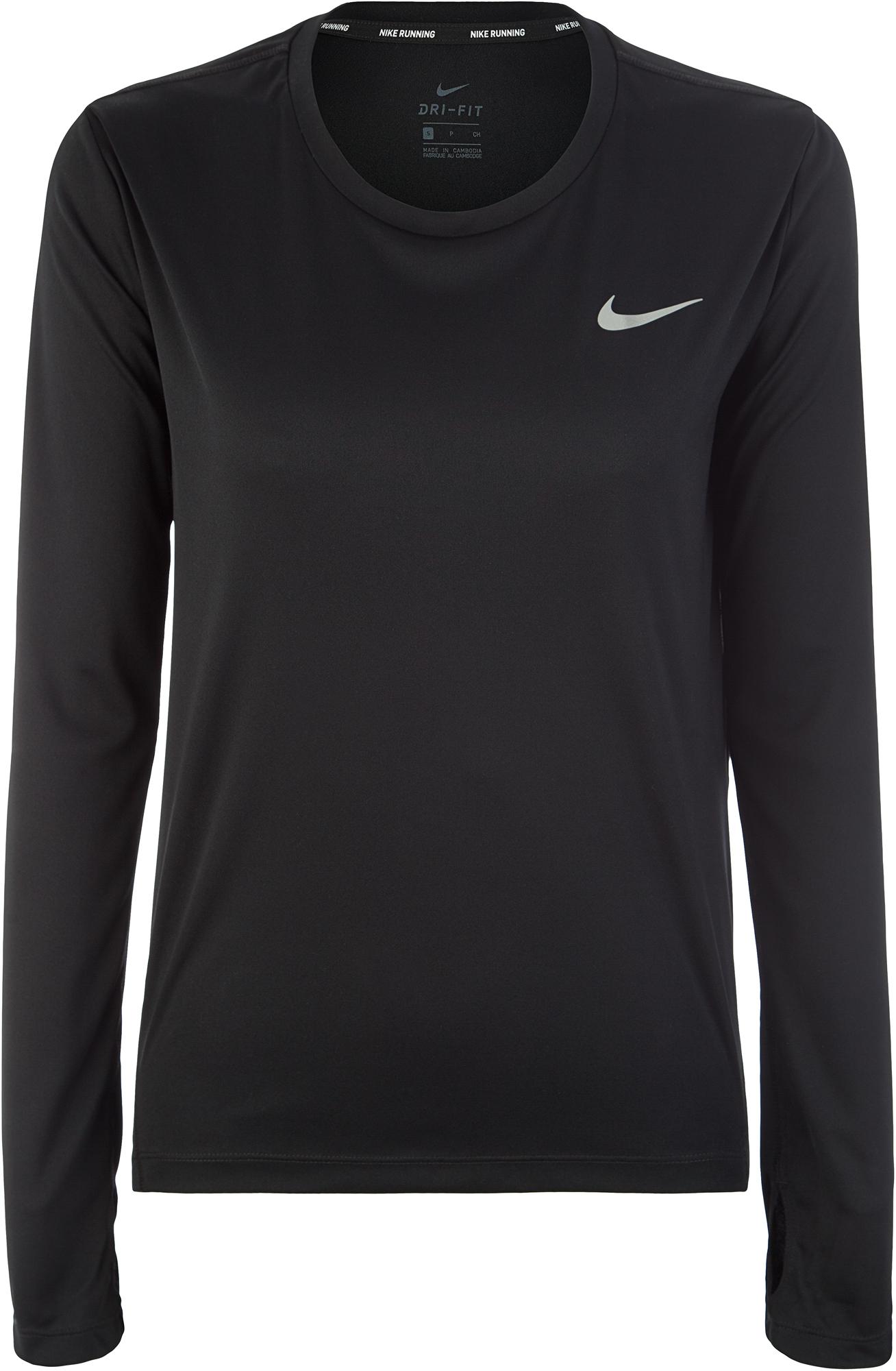 Nike Футболка с длинным рукавом женская Nike Miler, размер 46-48 цена