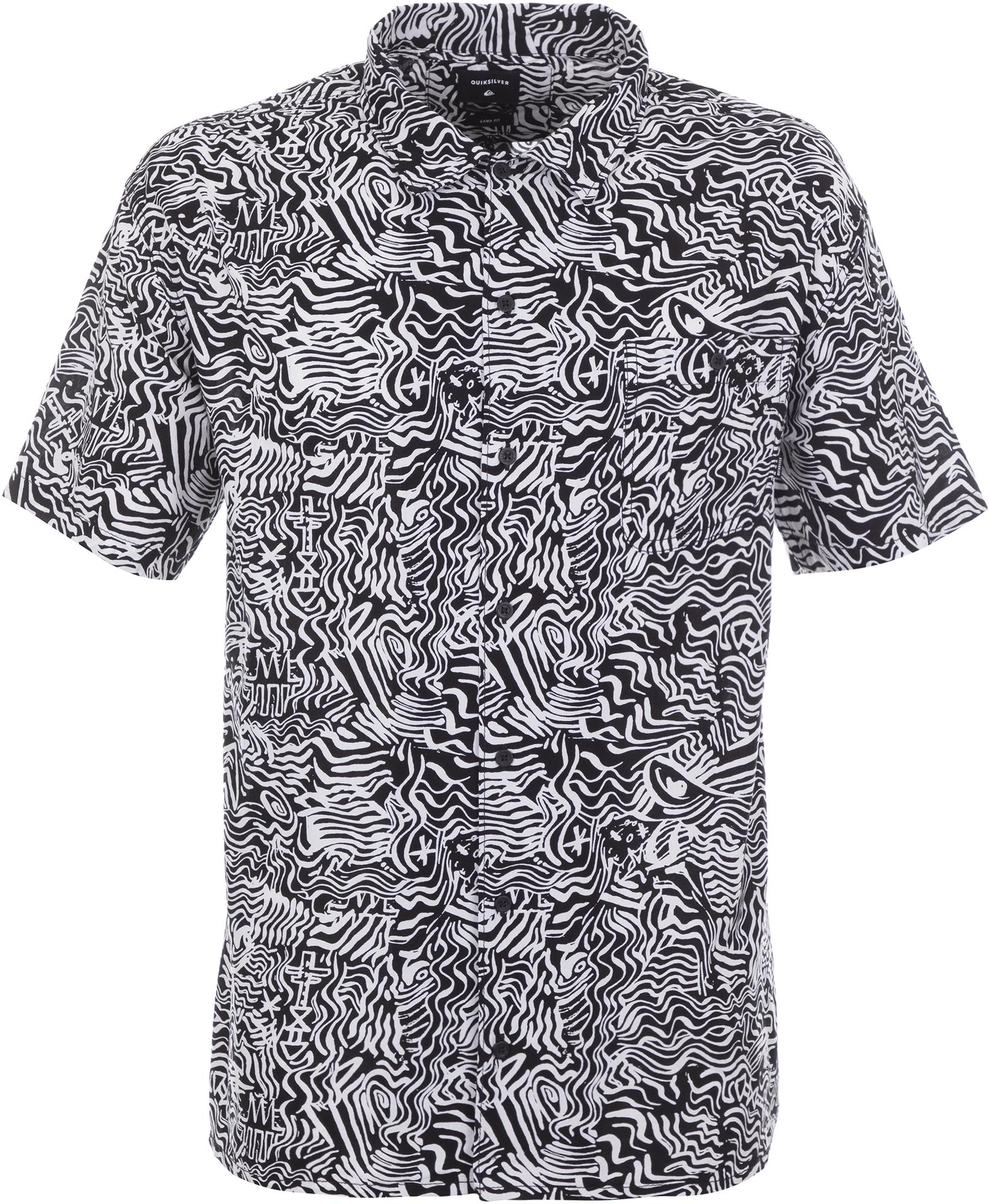 футболка мужская quiksilver цвет серый eqyzt04286 ktah размер l 50 52 Quiksilver Рубашка мужская Quiksilver, размер 52-54