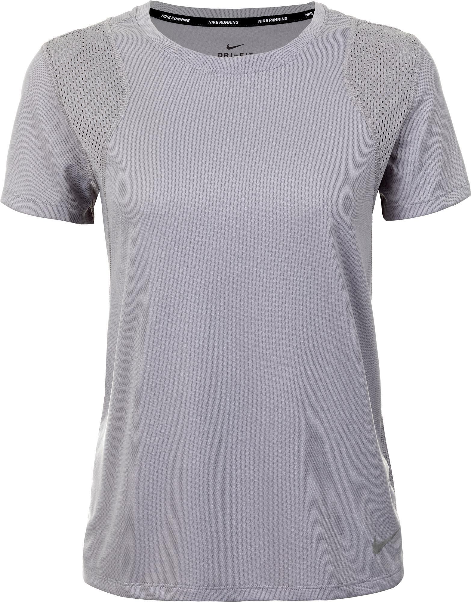 Nike Футболка женская Nike Running, размер 42-44 футболка женская nike pro top цвет белый 889540 100 размер s 42 44