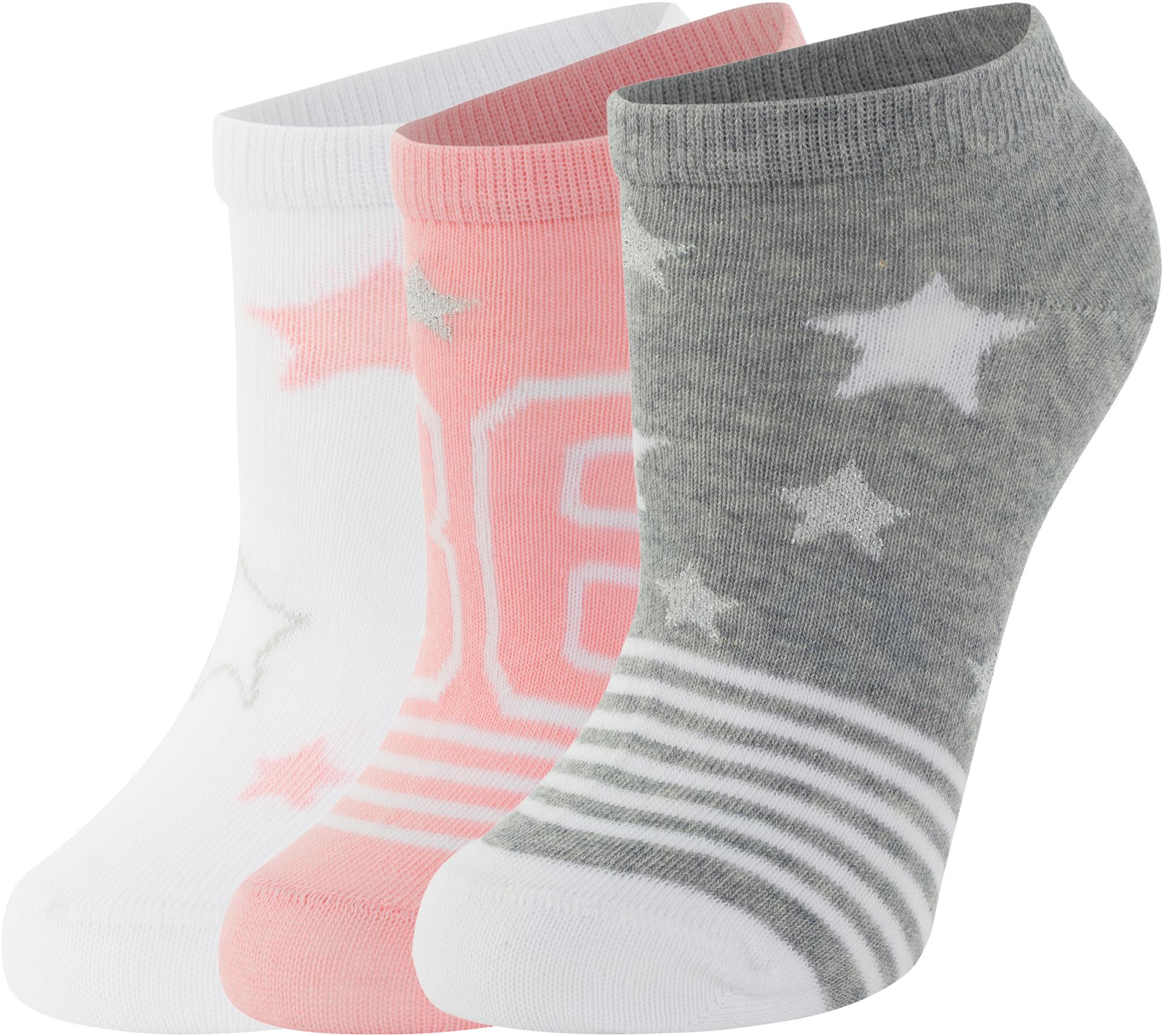 белье acoola носки детские 2 пары цвет ассорти размер 16 18 32114420052 Demix Носки для девочек Demix, 3 пары, размер 28-30